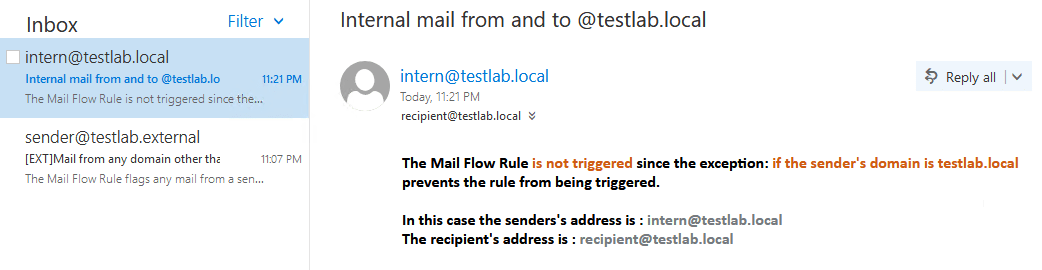 Mail Flow Rule Mark External Mail