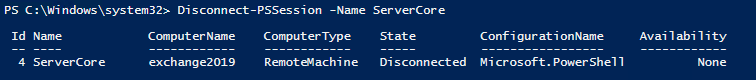 Disconnect Remote PowerShell Session