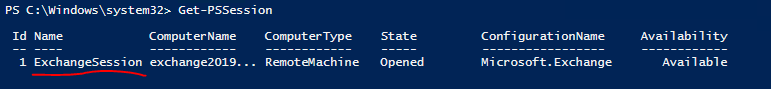 Get Remote PowerShell Session Exchange