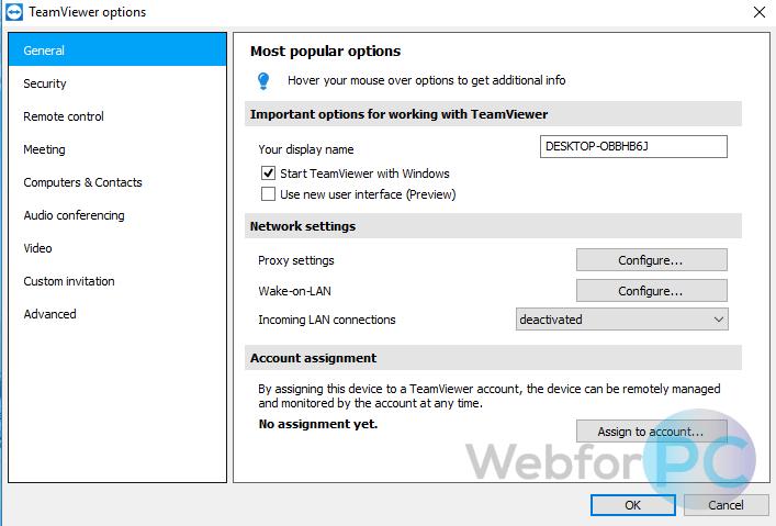 Teamviewer Interface Mac
