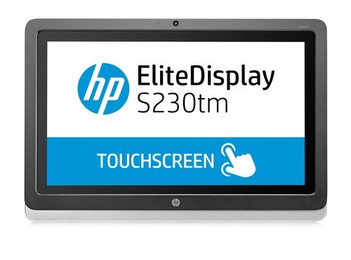 HP EliteDisplay S230tm 23-In Touch Monitor - Aspect Ratio 16:9 res 1920x1080 Ports 1xDVI-D 1xDisplayport 7ms response 3.3.0