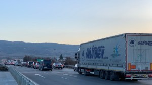 На бул.  Самоковската магистрала в София премина през задръствания с километри.