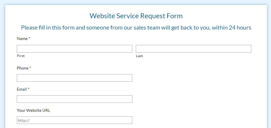 Custom Forms for Websites