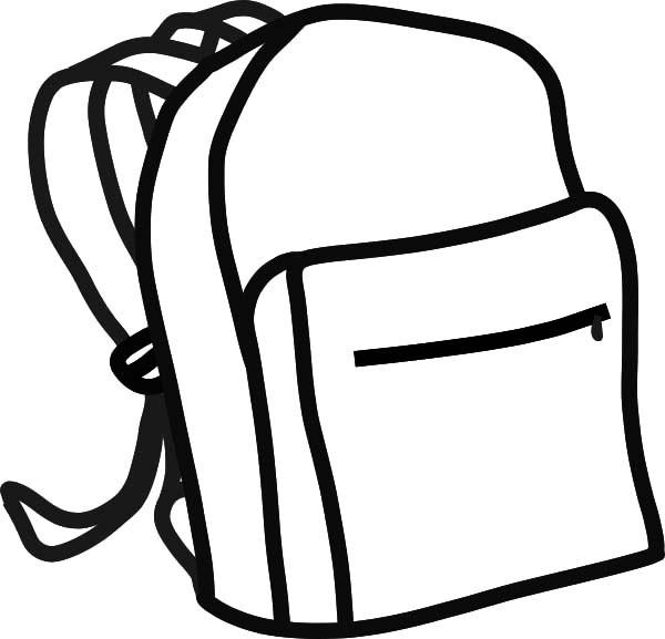 Backpack clipart outline, Backpack outline Transparent ...