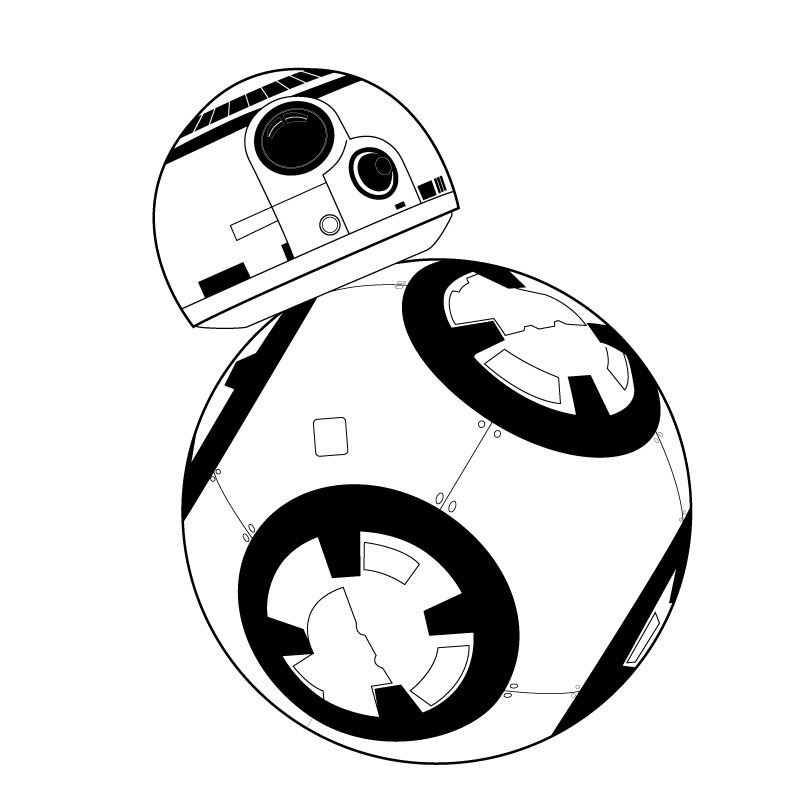 Bb8 clipart black and white bb8 black and white, star wars robot bb8 drawing