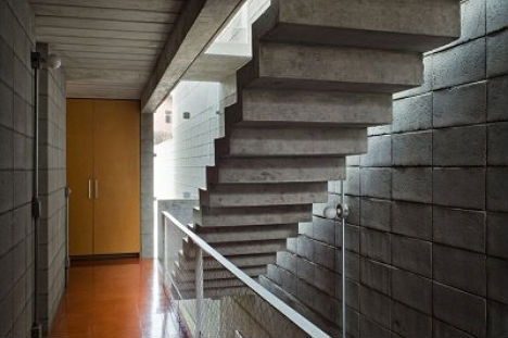 Suspended Staircases 18 Hanging Stair Tread Sets Urbanist   Floating Concrete Steps Designs   House   Sidewalk   Front Door   Stair Railing   Backyard