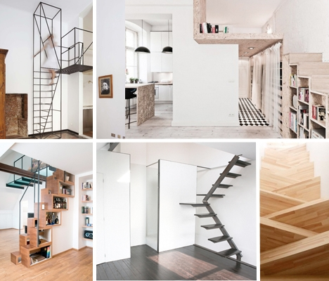 Steps To Saving Space 15 Compact Stair Designs For Lofts Urbanist | Loft Stairs For Small Spaces | Child Friendly | Studio Apartment Minimalist | Corner | Steel | Loft Staircase