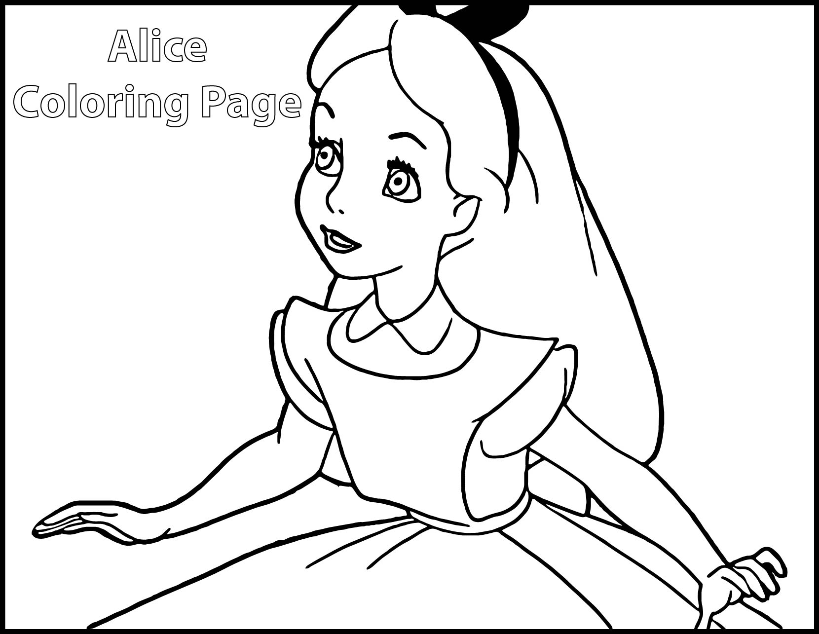 Alice In Wonderland Coloring Pages Wecoloringpage