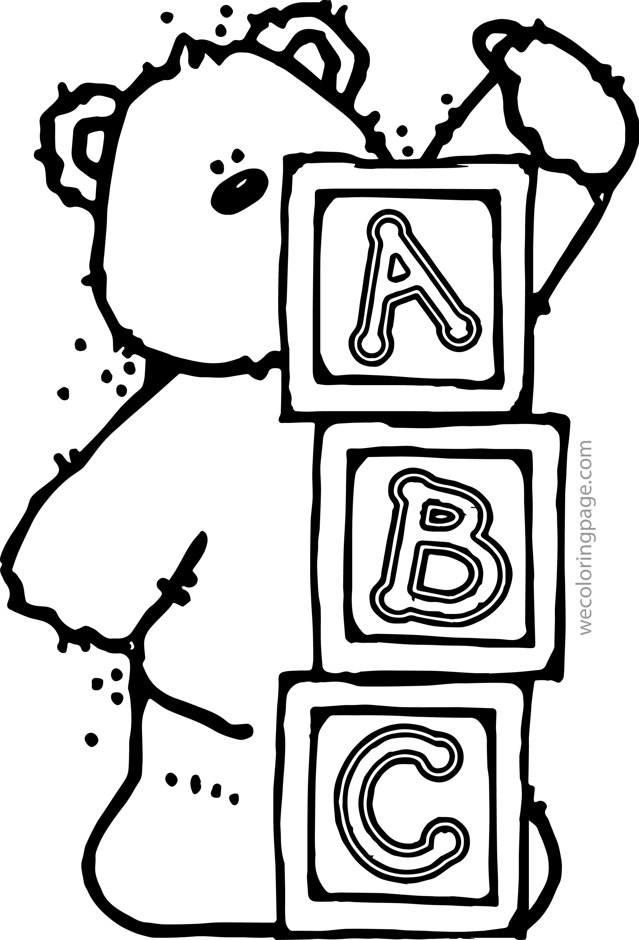 Abc Coloring Pages Wecoloringpage