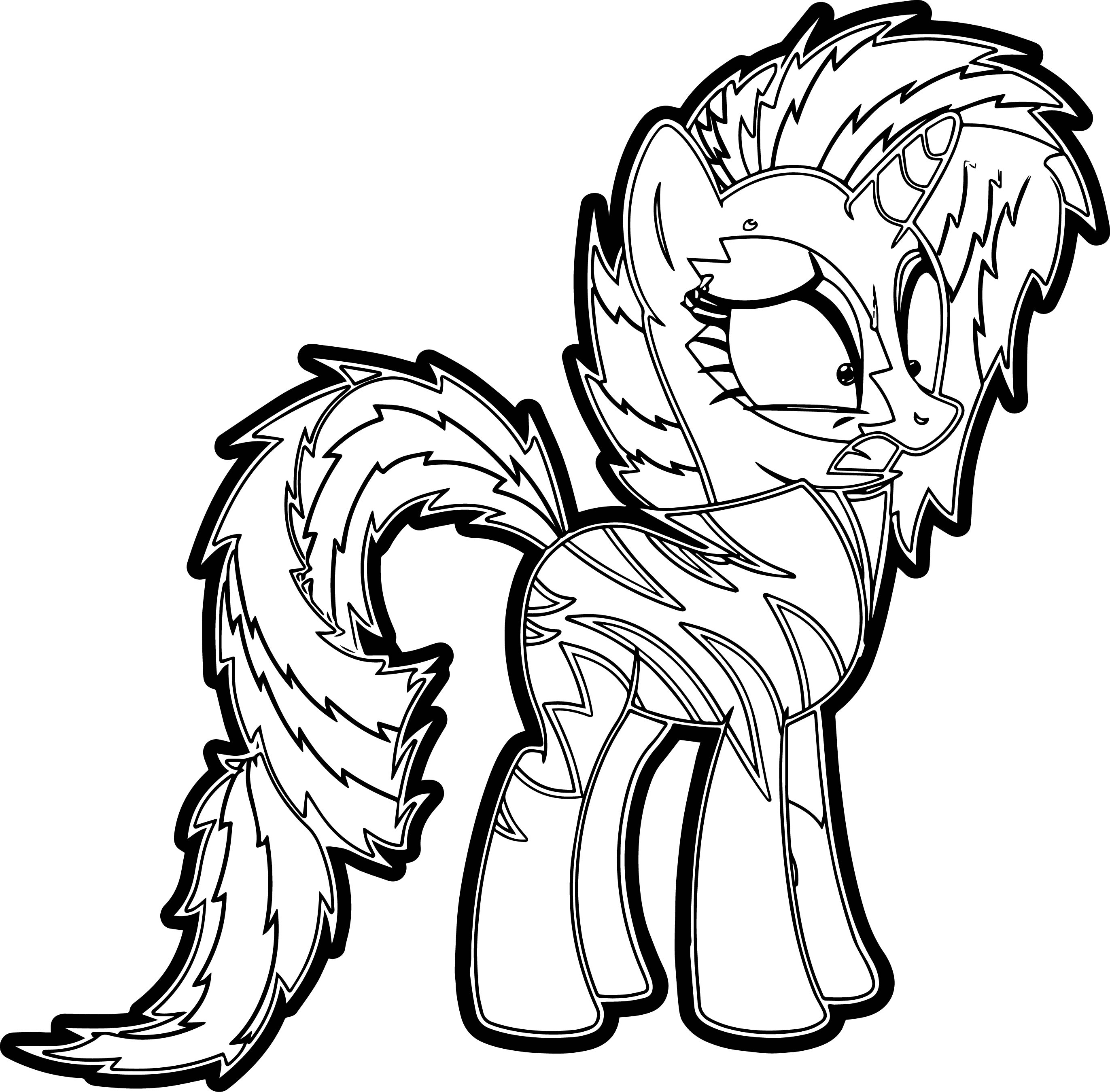 Crazy My Little Pony Coloring Page Wecoloringpage