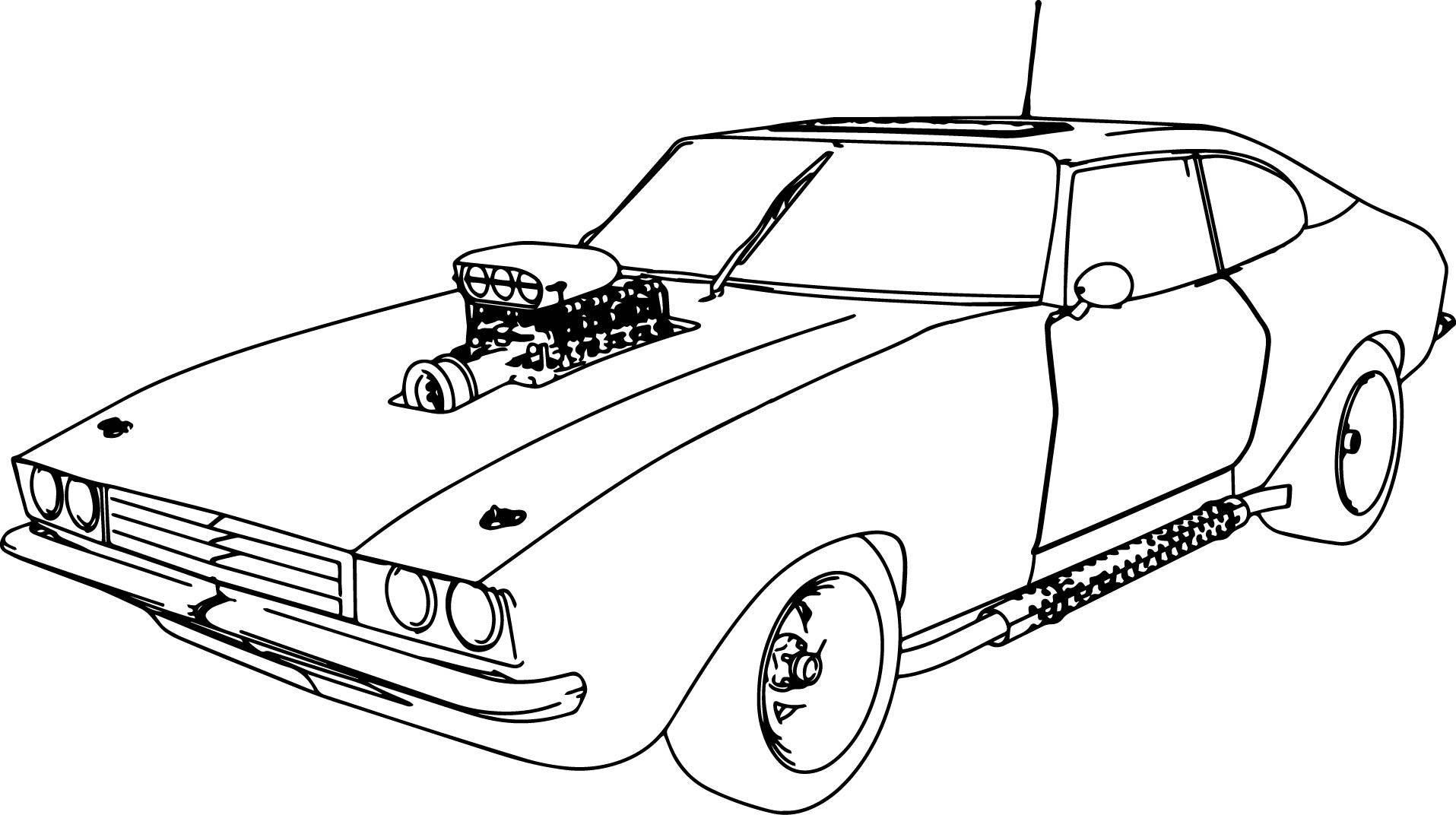 Old Car Colouring Pages Coloring Page