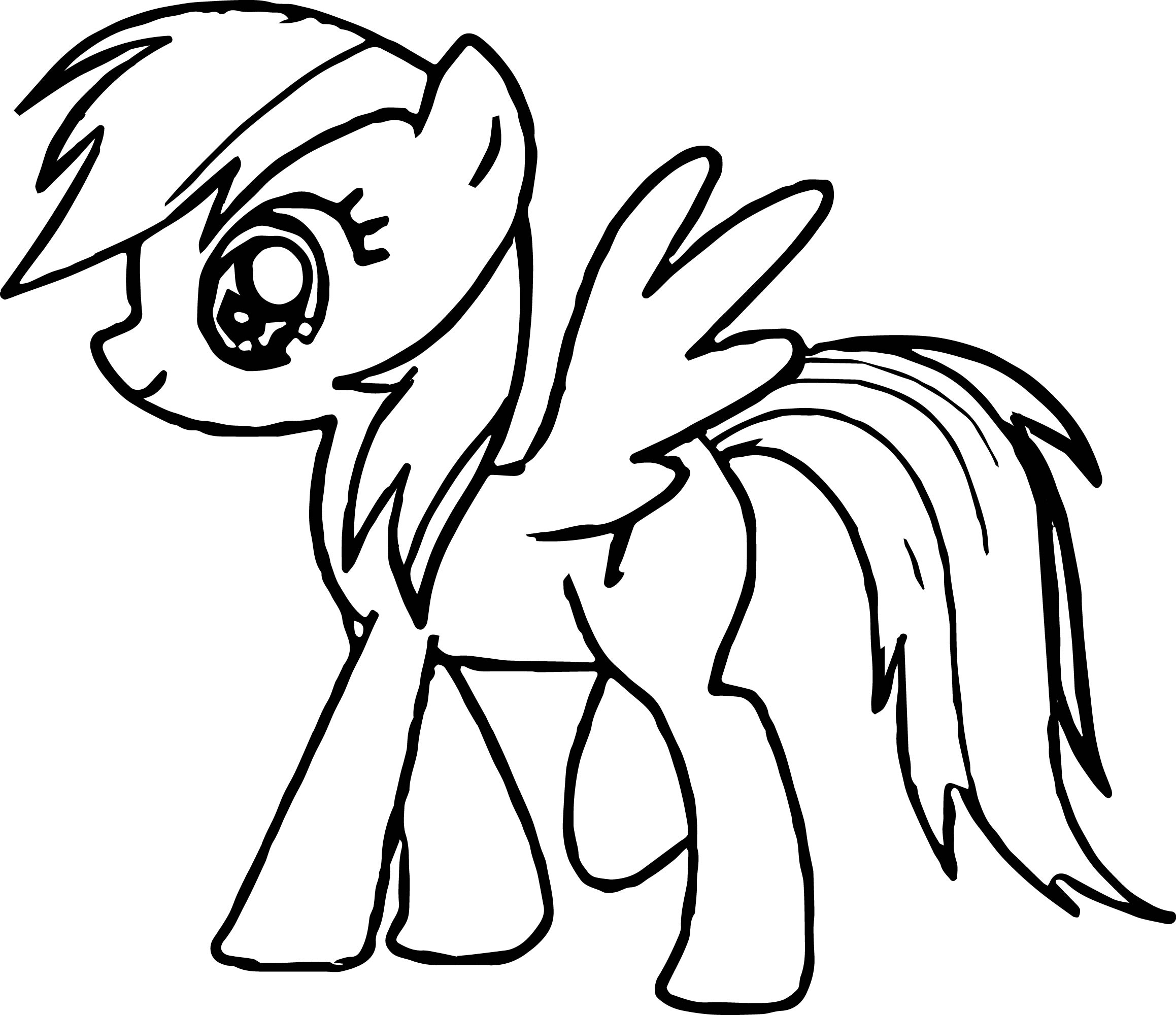 Walking My Little Pony Coloring Page Wecoloringpage