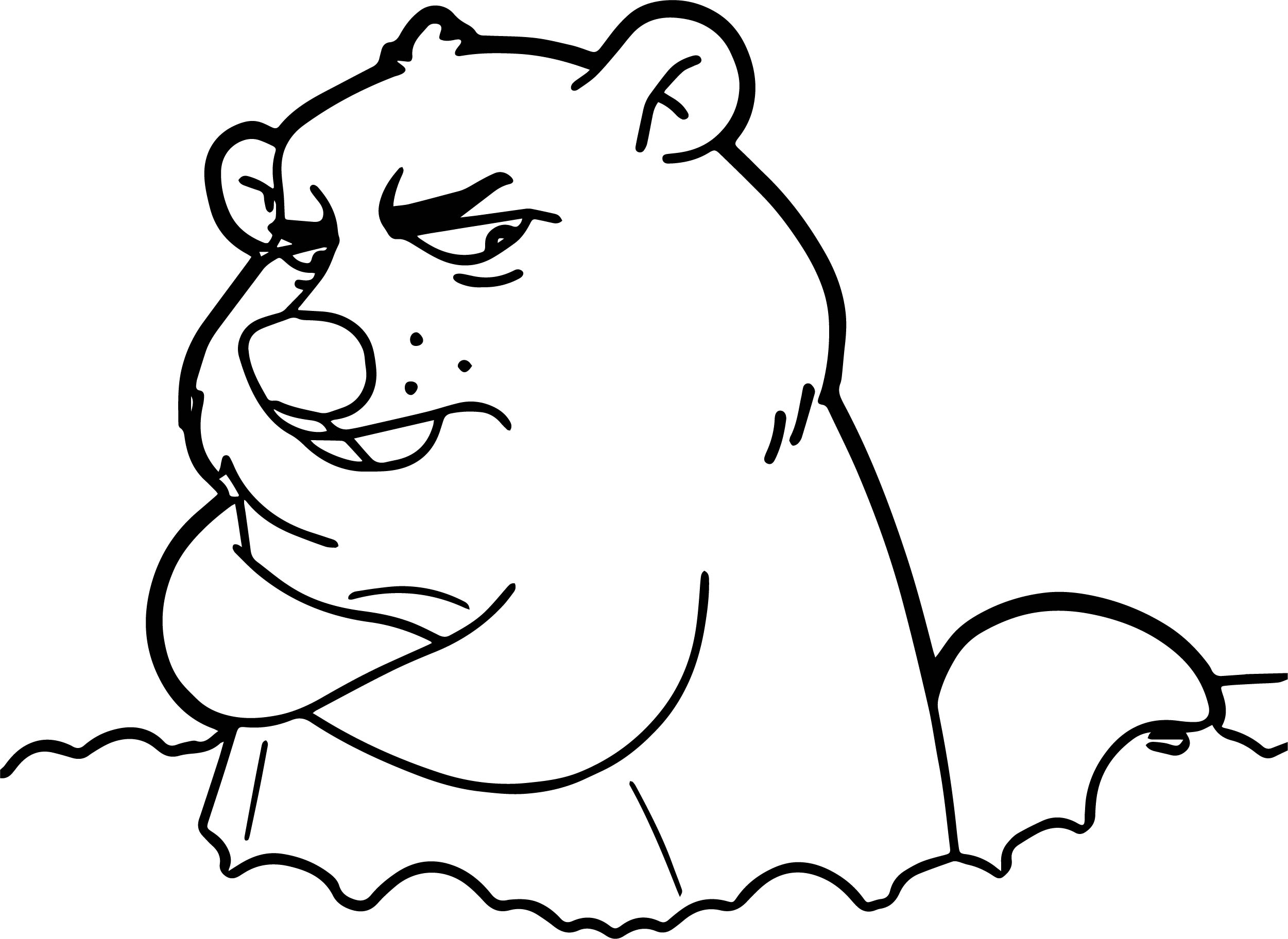Cartoon Groundhog Day Coloring Page Wecoloringpage