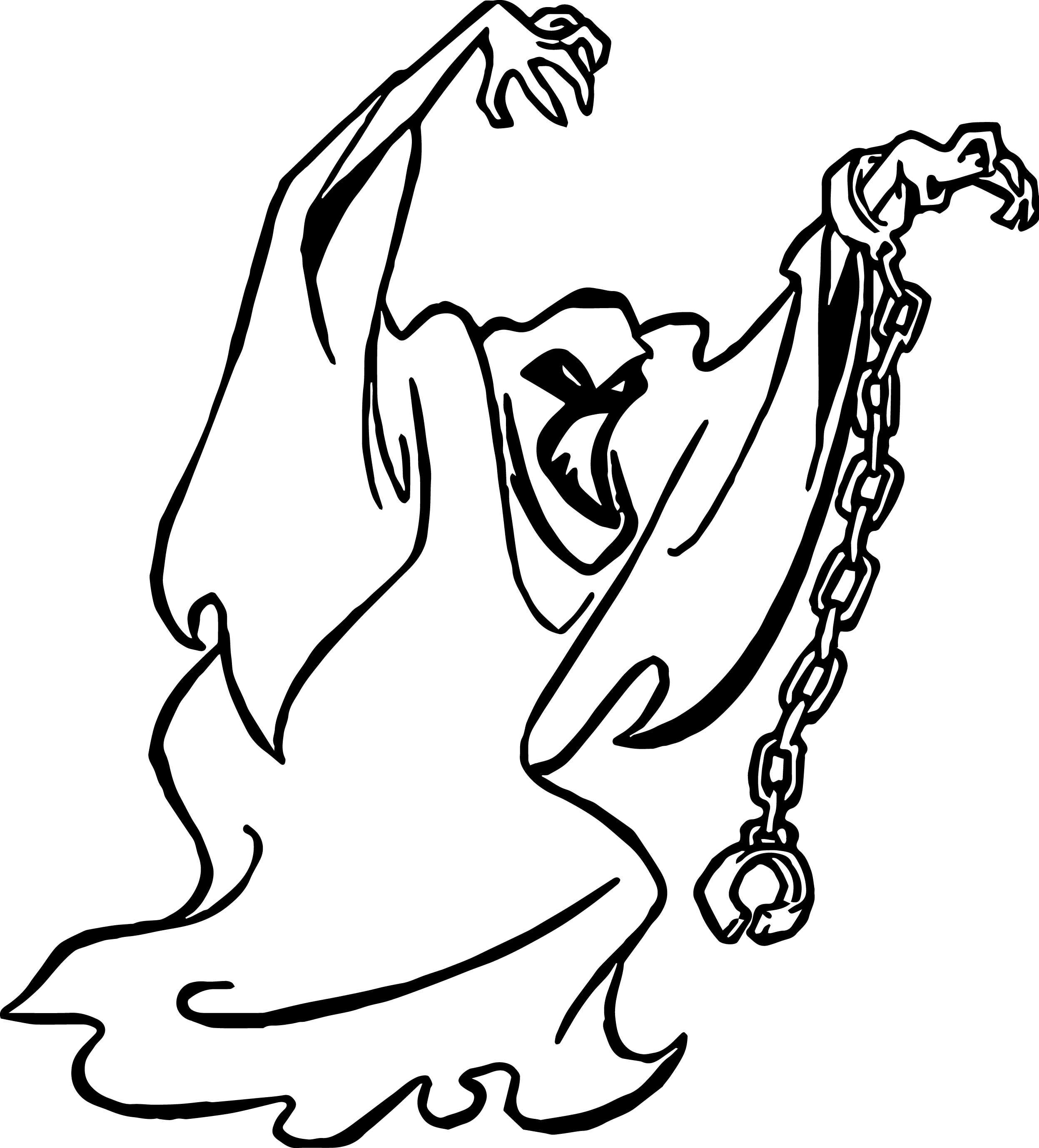 Ghost Scooby Doo Coloring Page Wecoloringpage