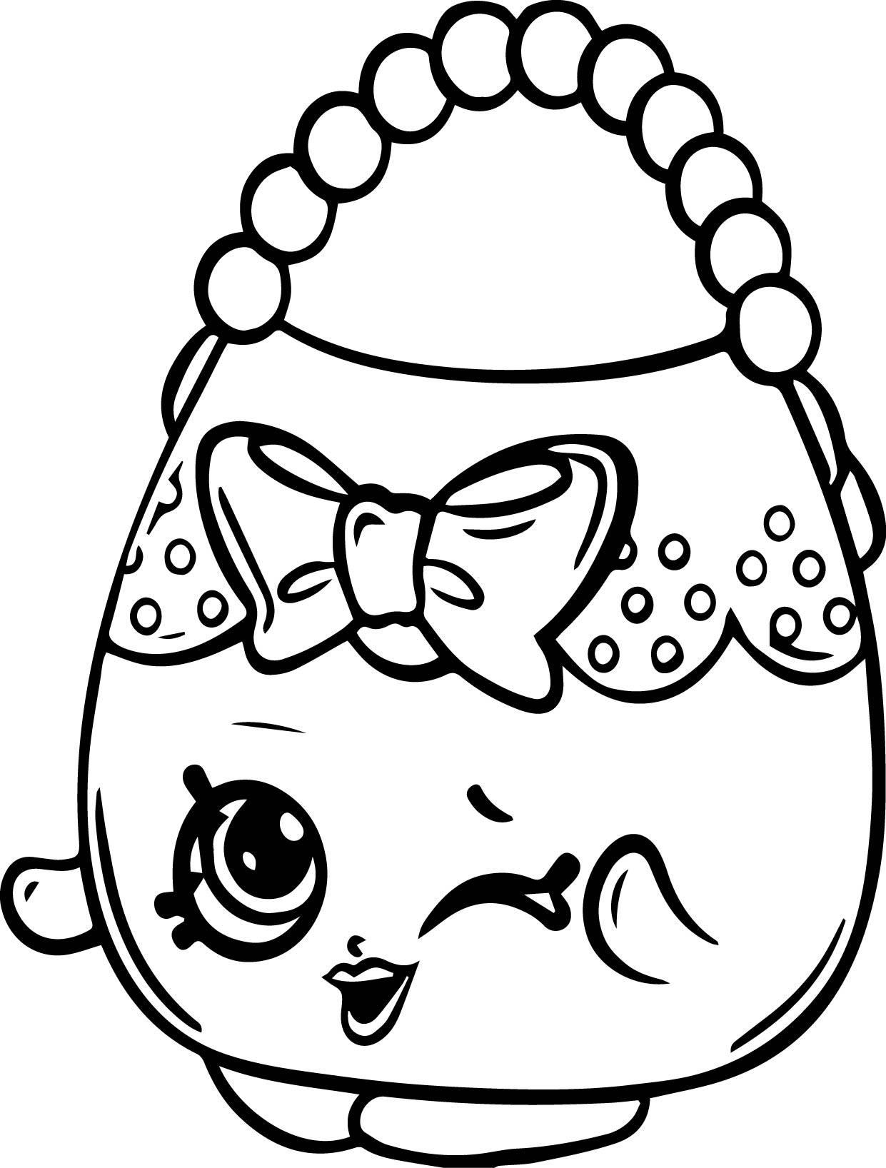 Handbag Harriet Shopkins Coloring Page Wecoloringpage