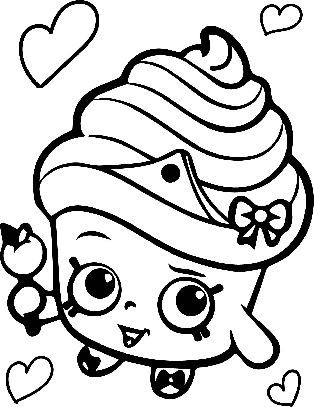 Shopkins Cupcake Queen Coloring Page Wecoloringpage