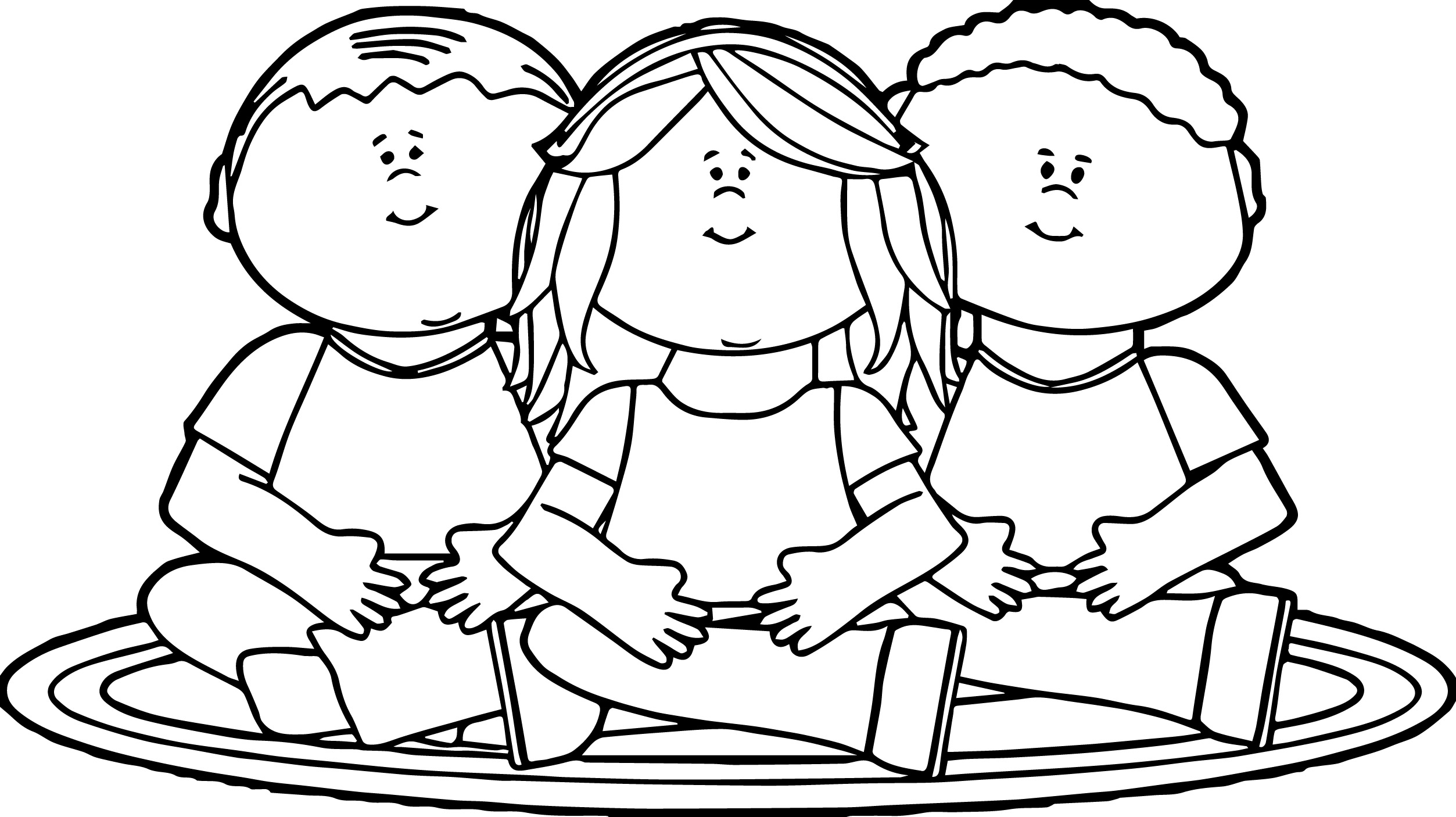Kids Sitting On School Rug Kids Coloring Page Wecoloringpage