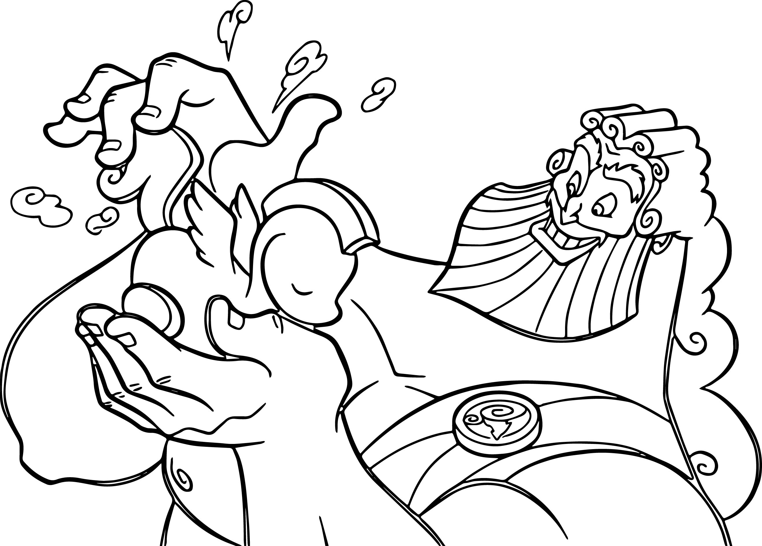 Zeus Coloring Page Coloring Page