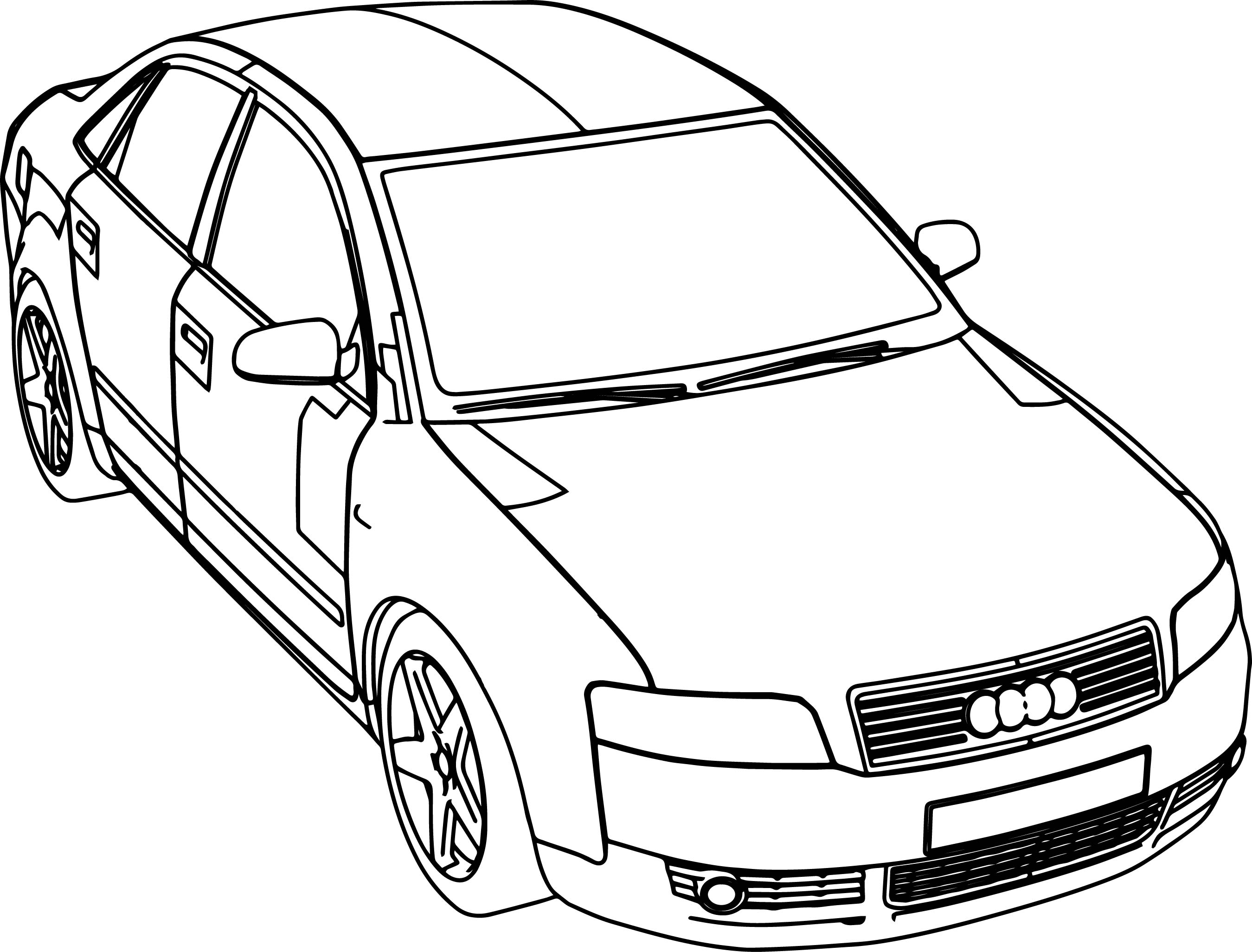 Audi Car A4 Coloring Page Wecoloringpage