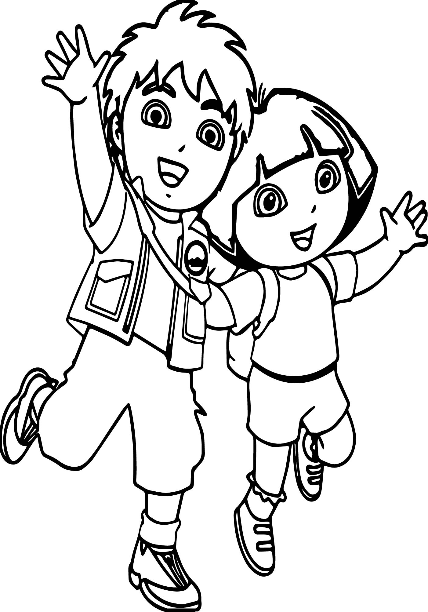 go diego go coloring pages to print