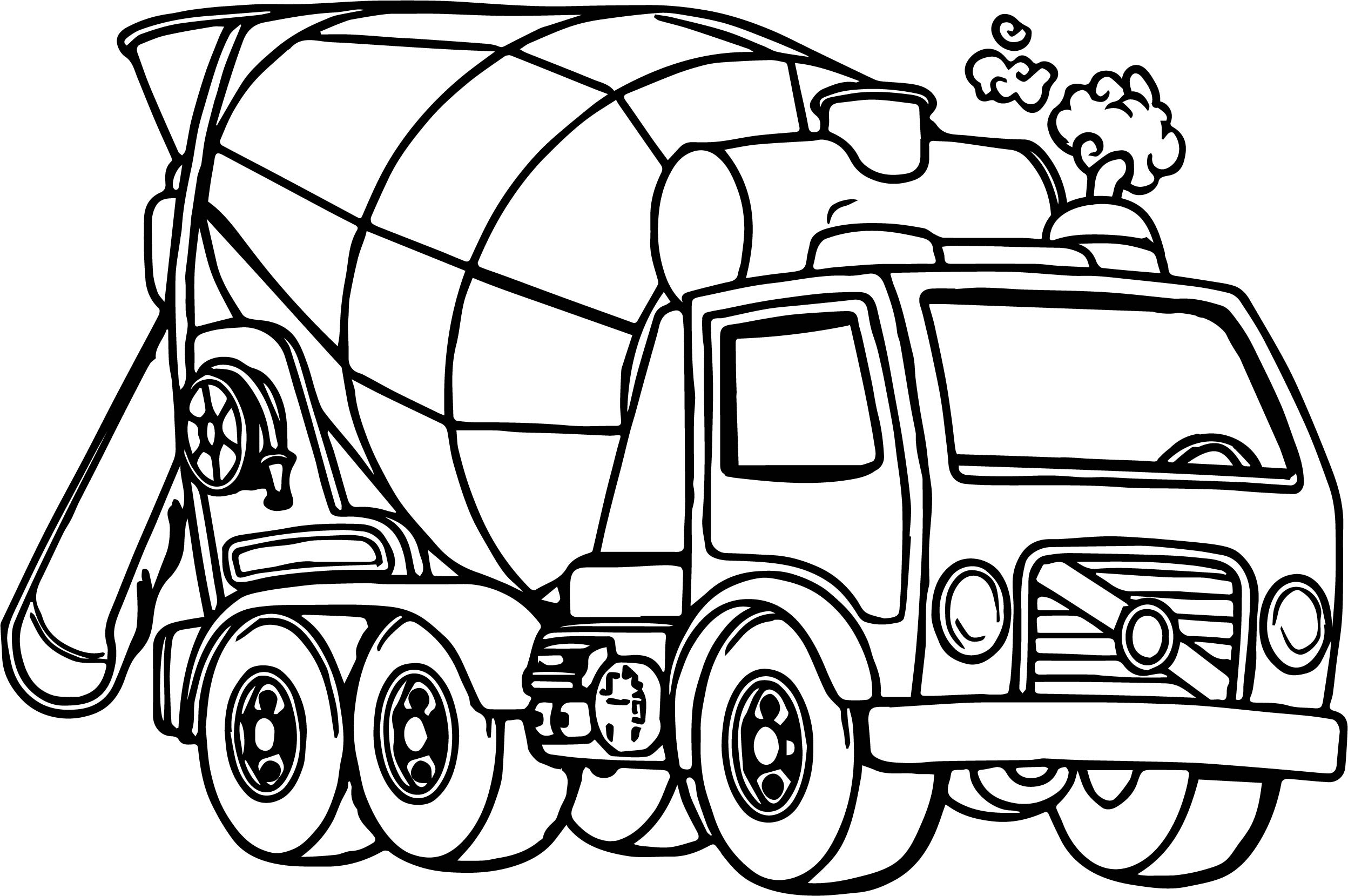 Good Cement Truck Coloring Page Wecoloringpage