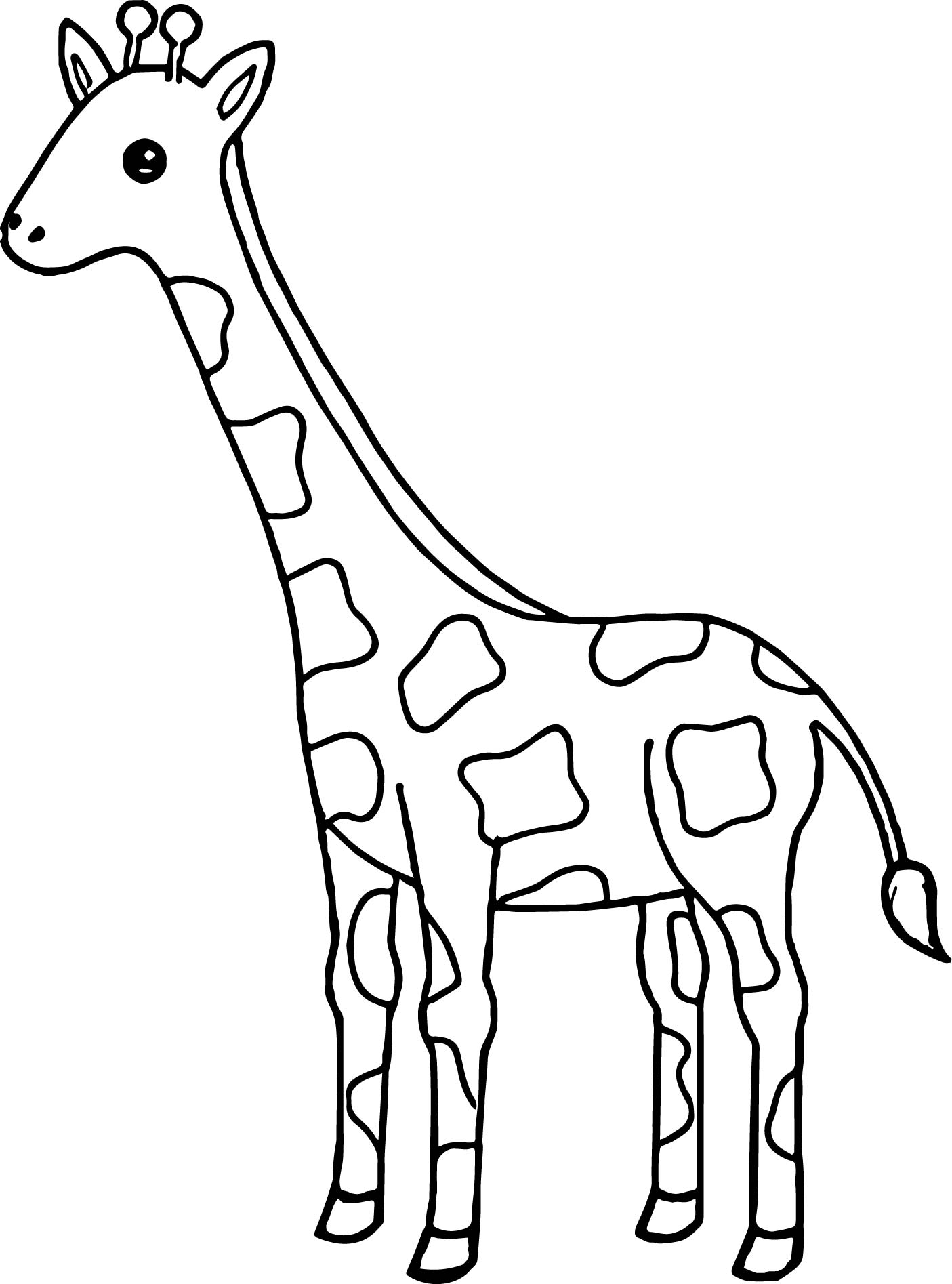 Tall Giraffe Coloring Page Wecoloringpage
