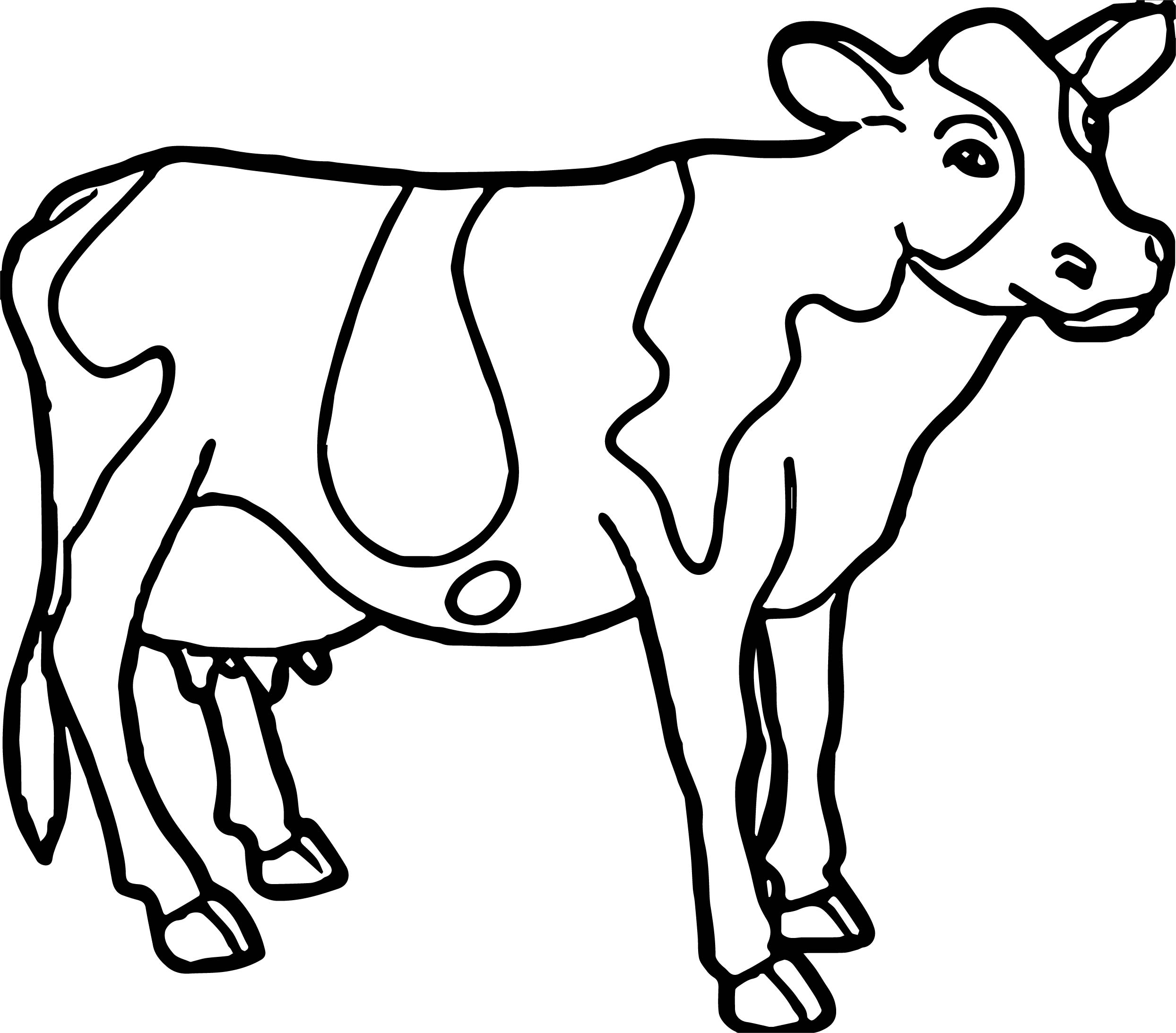 Cow Farm Animal Coloring Page Wecoloringpage