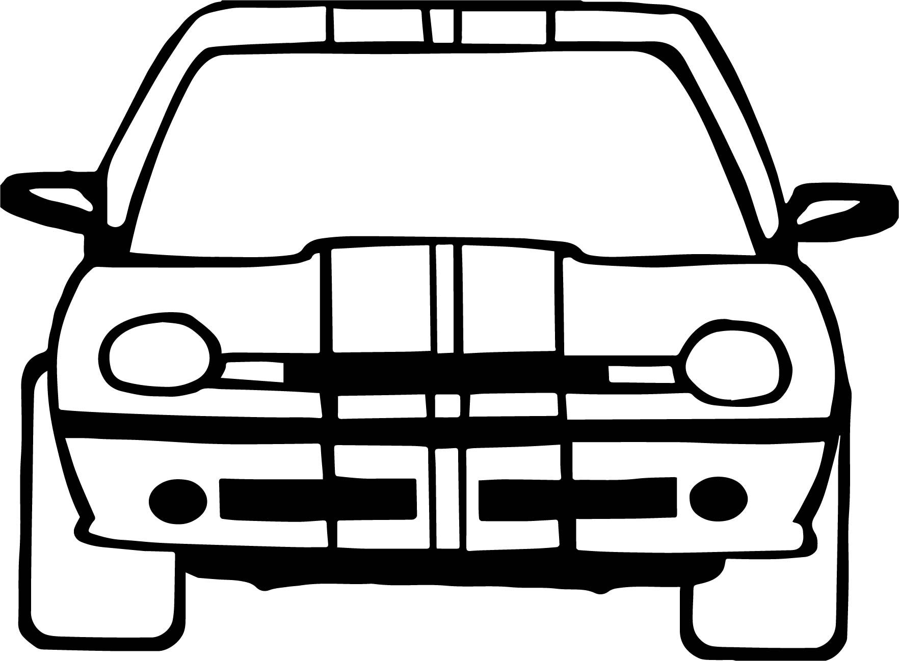 Front Taxi Driver Car Coloring Page Wecoloringpage