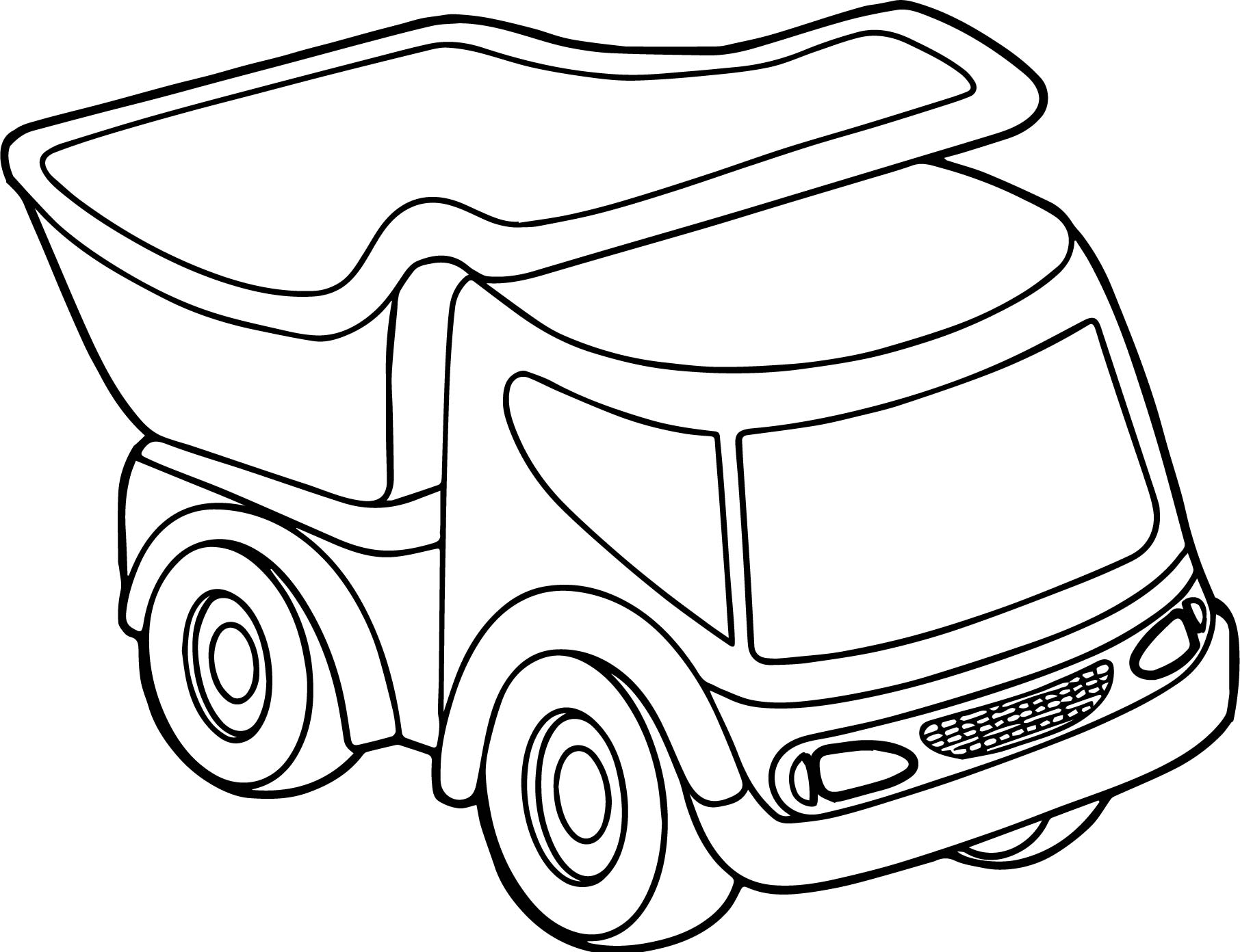 Toy Car Truck Coloring Page Wecoloringpage