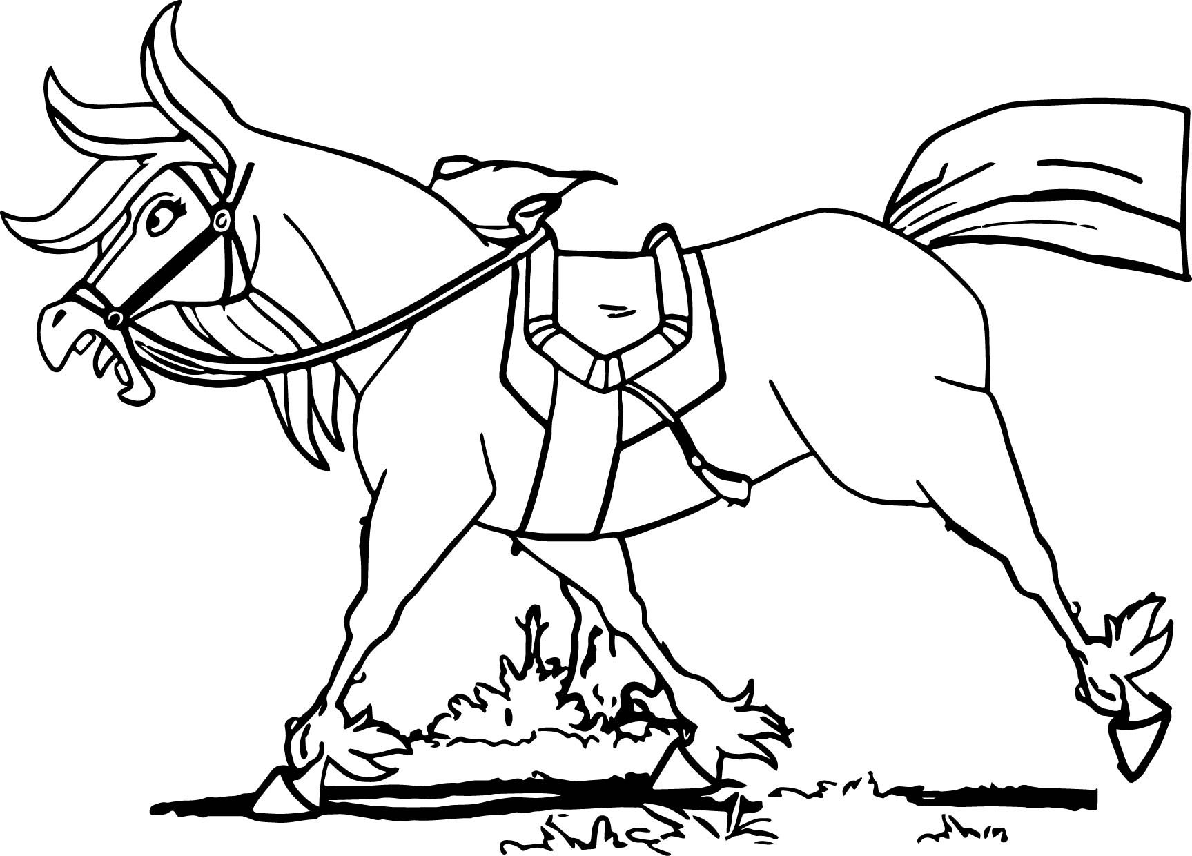 Trenk The Little Knight Horse Coloring Page Wecoloringpage