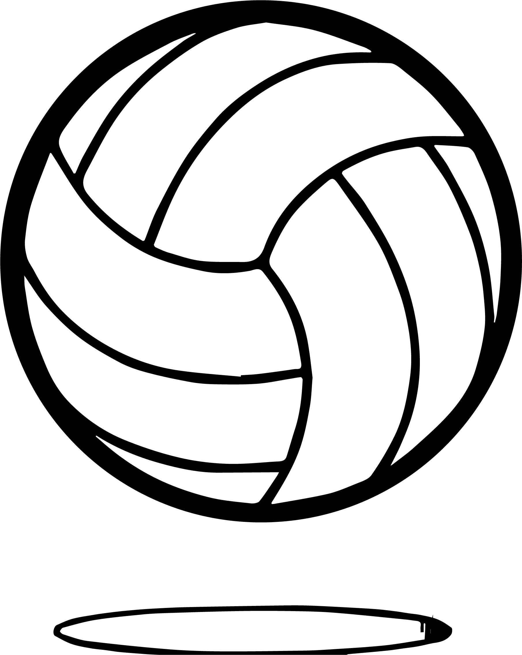 Volleyball Ball Up Coloring Page Wecoloringpage