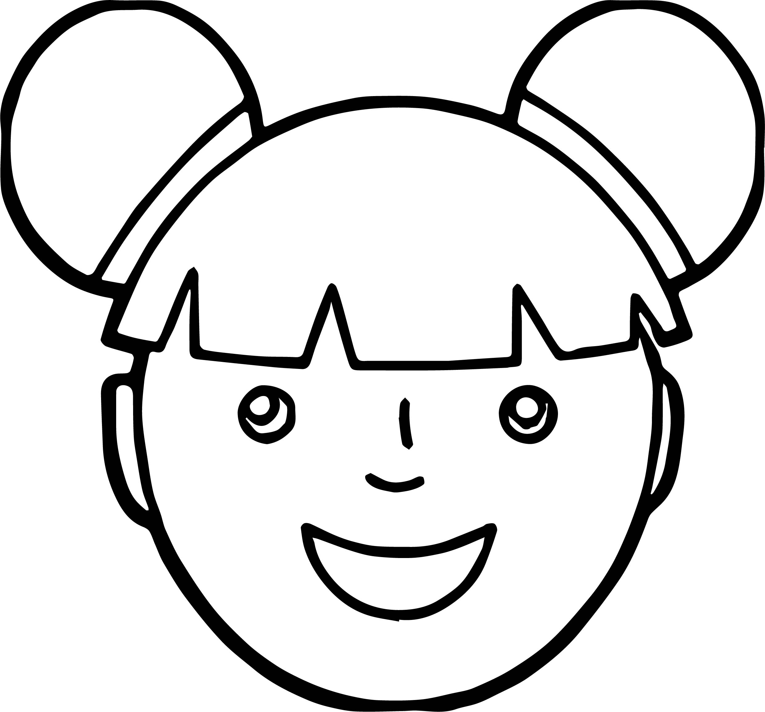 Asian Girl Face Coloring Page Wecoloringpage