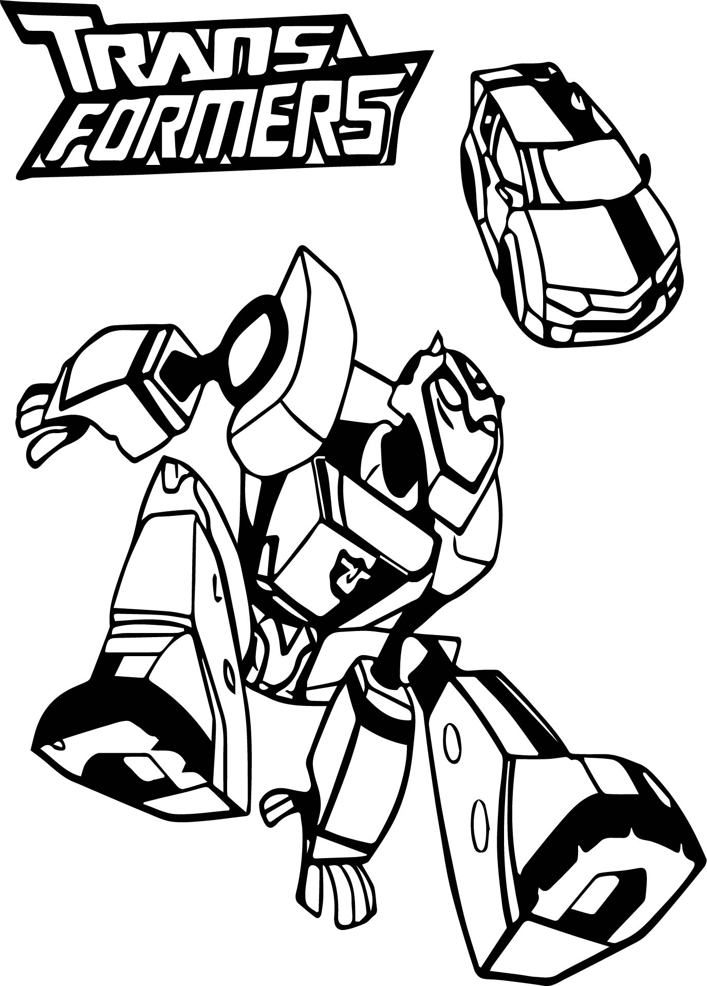 Bumblebee Car Transformers Coloring Page Wecoloringpage
