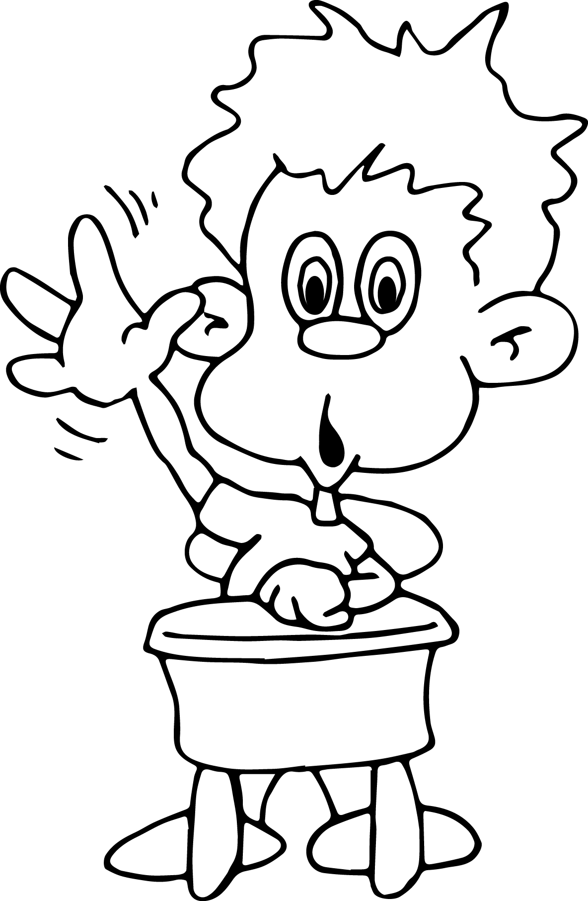 Children At The School Up Hand Coloring Page Wecoloringpage