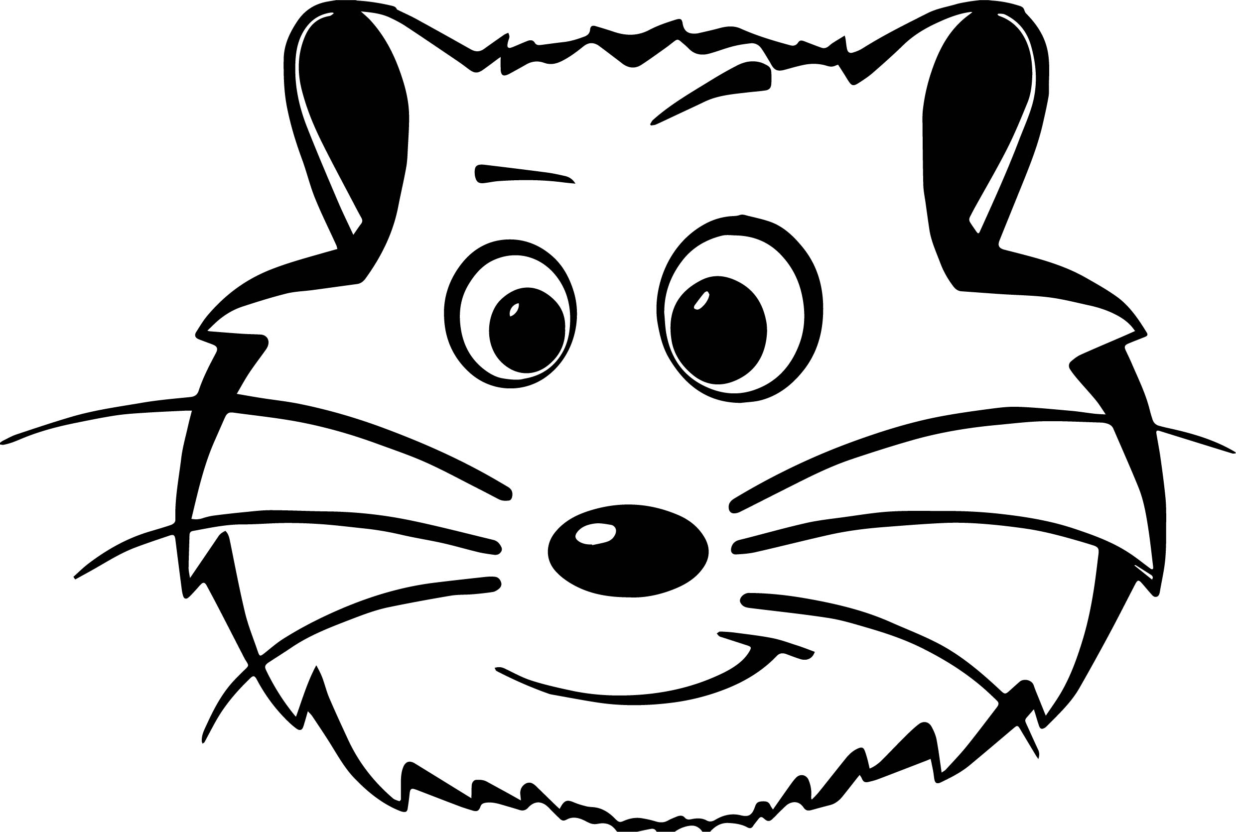 Ic Hamster Face Coloring Page Wecoloringpage