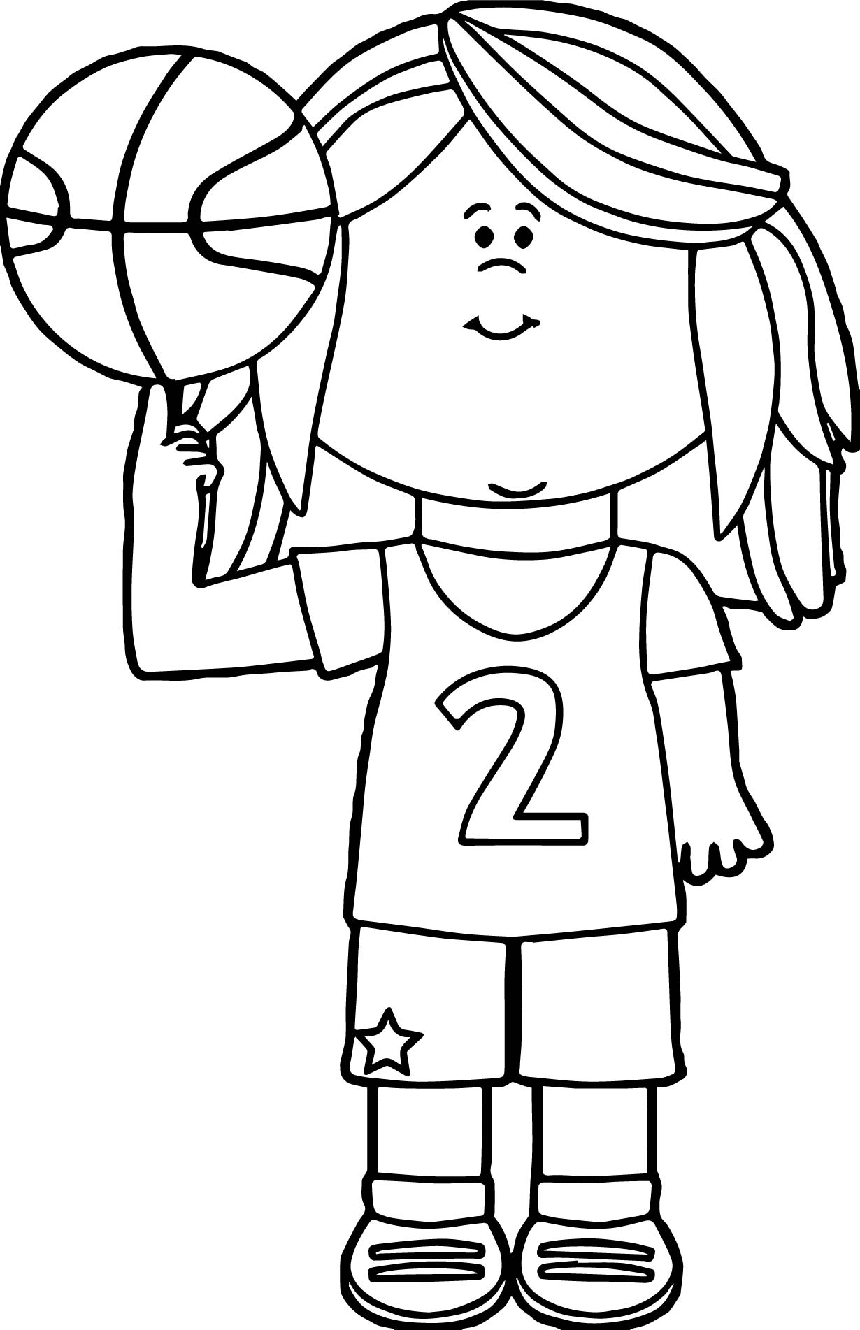 Girl Basketball Player Balancing Ball On Finger Playing Basketball