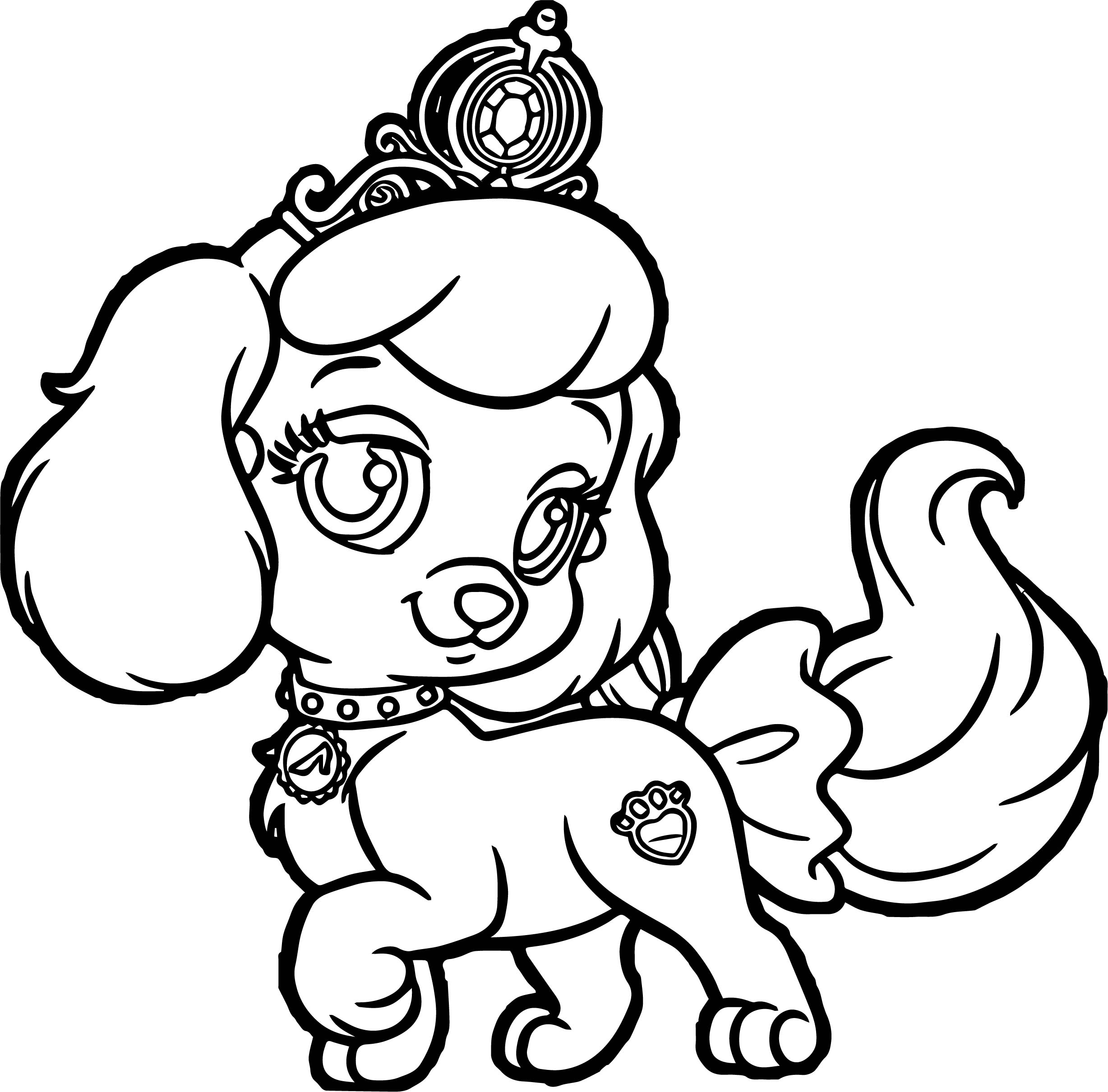 Girl Pumpkin Pup Puppy Dog Coloring Page Wecoloringpage