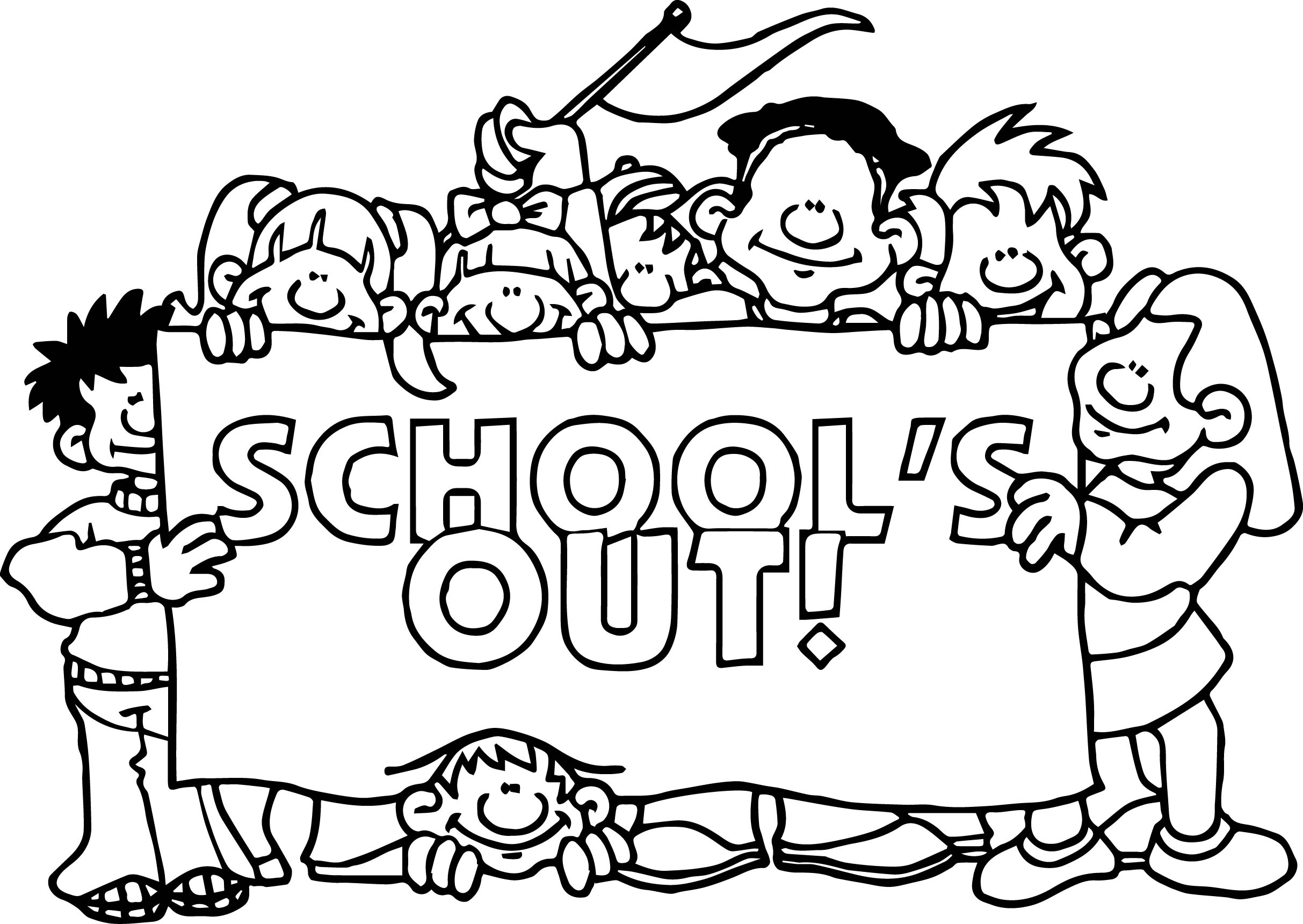 Coloring Pages School S Out Coloring Page