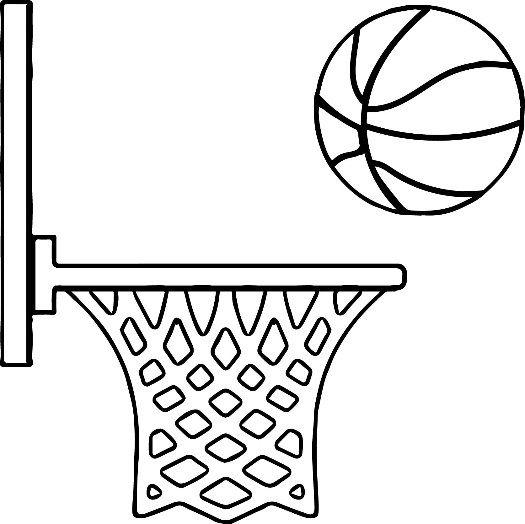 Side Playing Basketball Coloring Page Wecoloringpage