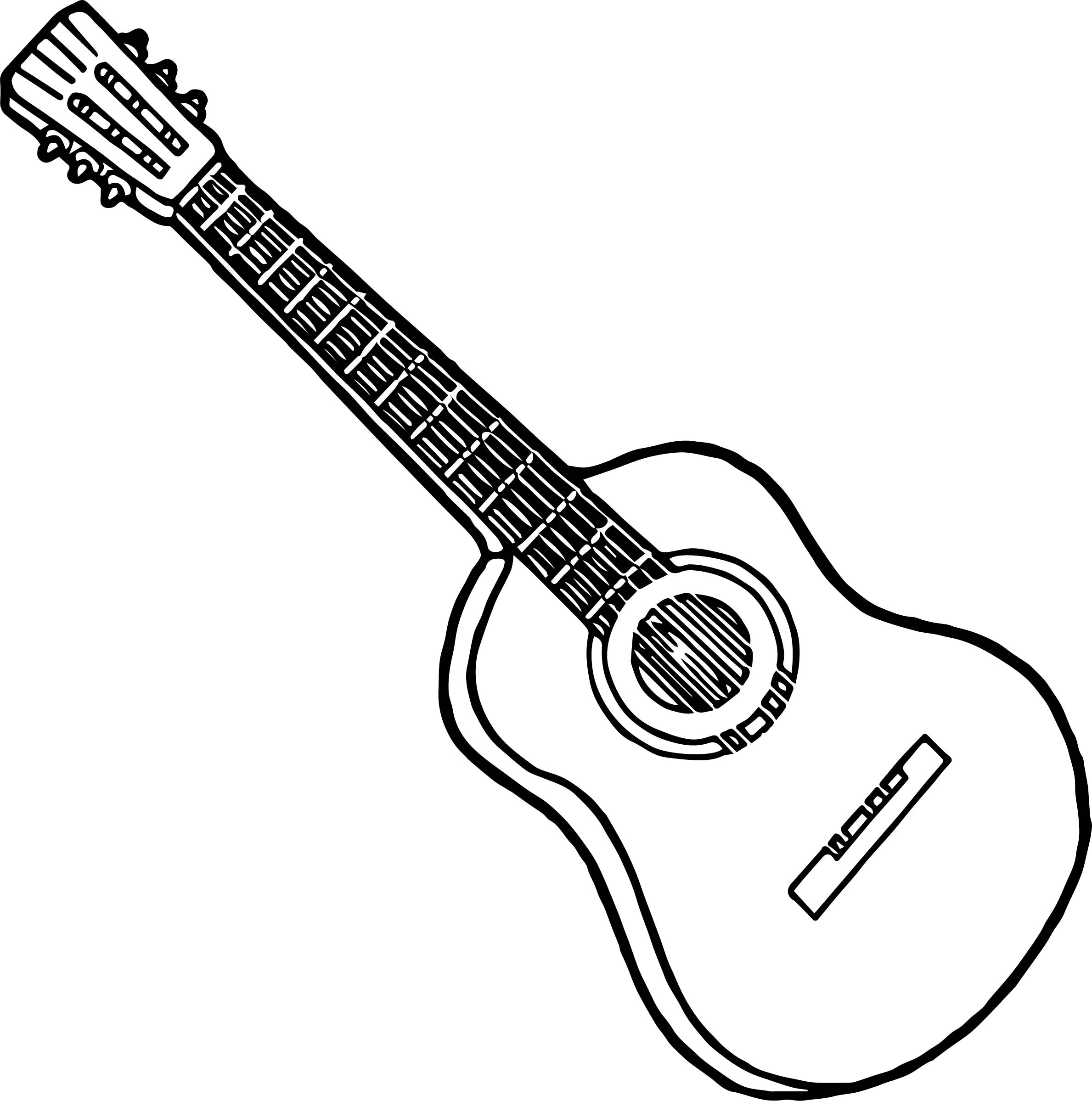 Strings Guitar Playing The Guitar Coloring Page Wecoloringpage