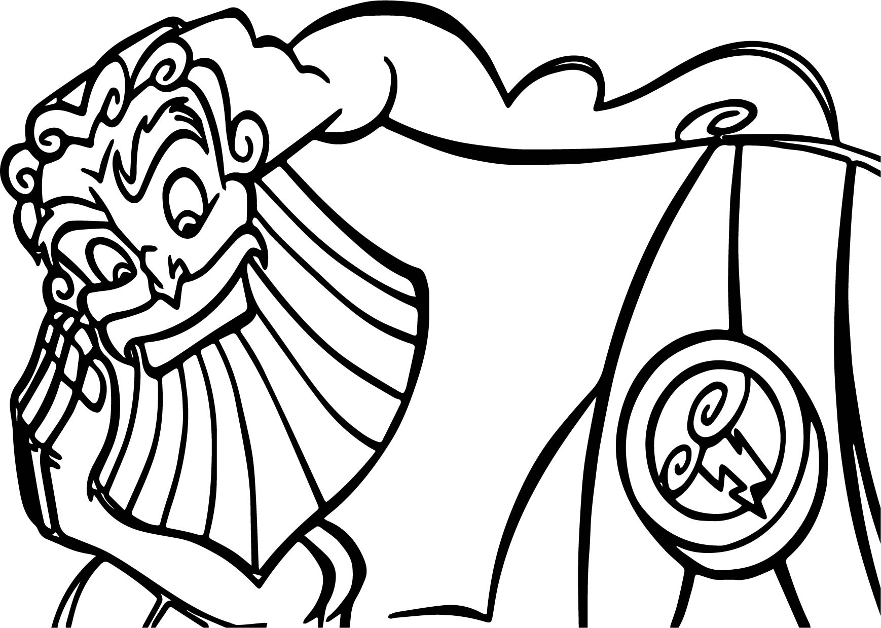 Zeus Hercules Looking Coloring Pages Wecoloringpage