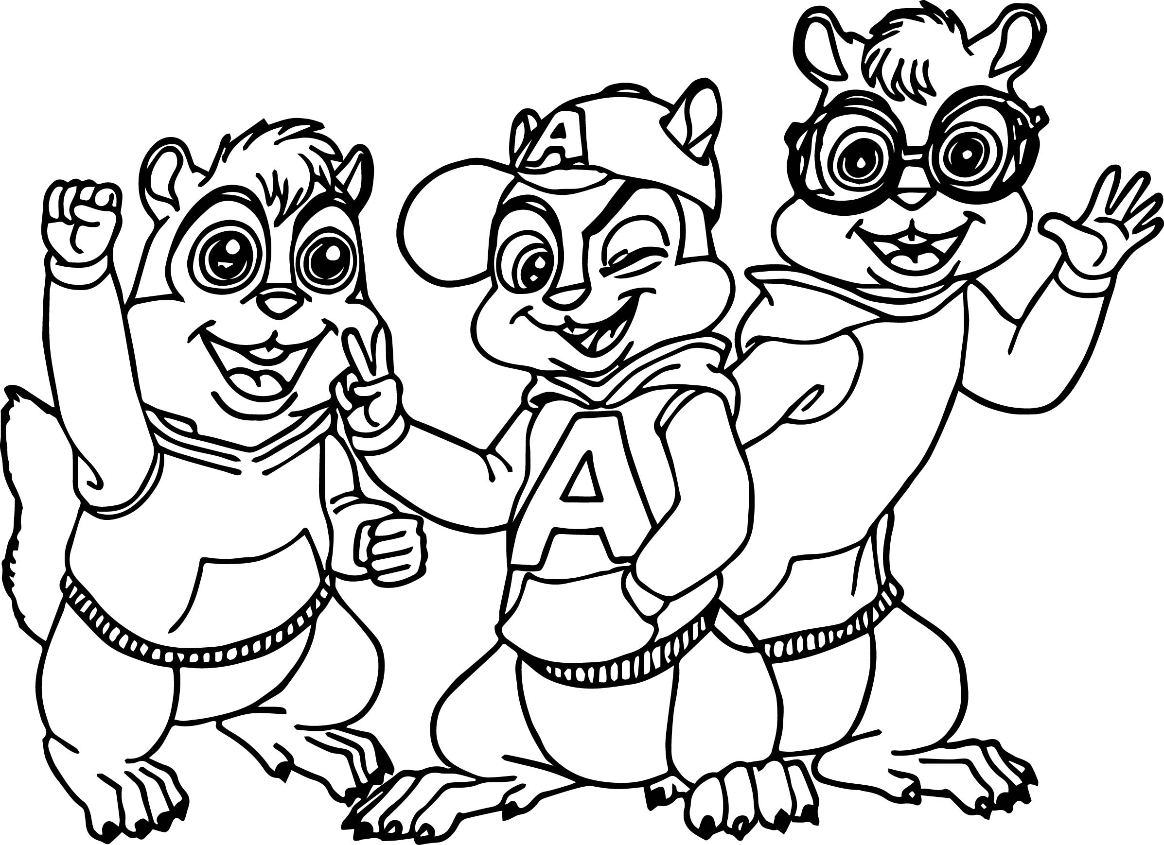 Theodore Chipmunk Coloring Pages