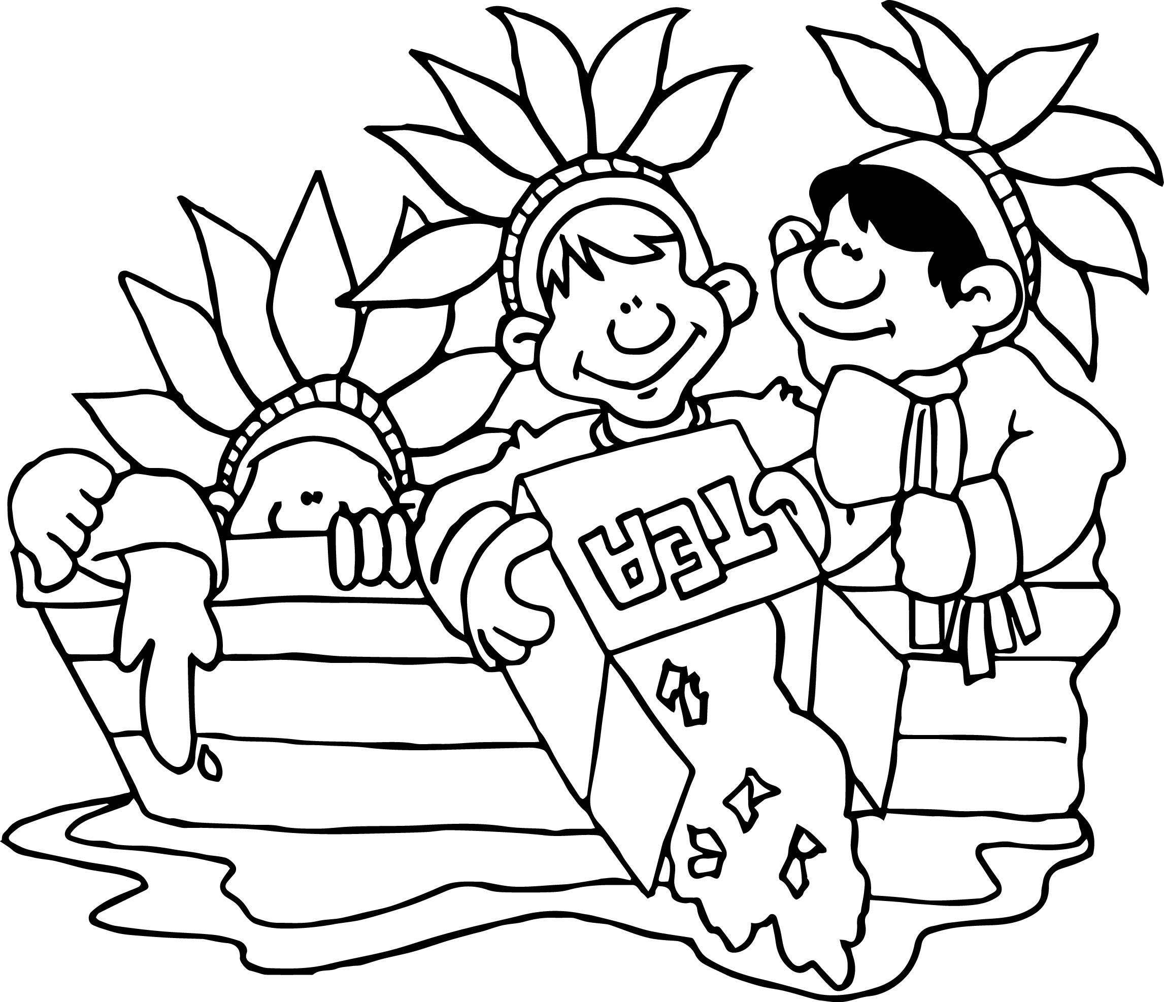 Boston Tea Party Coloring Pictures Coloring Page