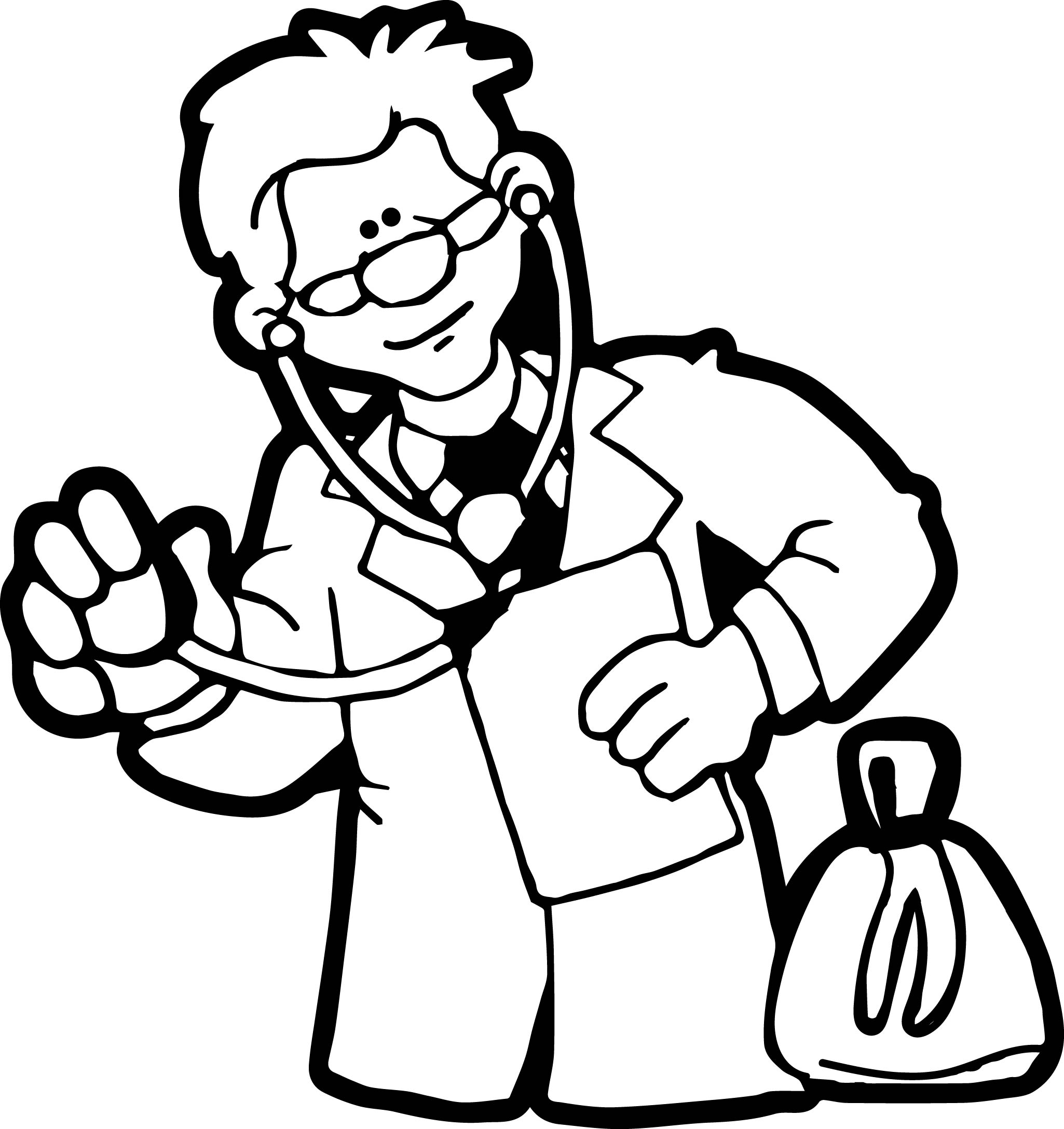 Doctor Look Coloring Page Wecoloringpage