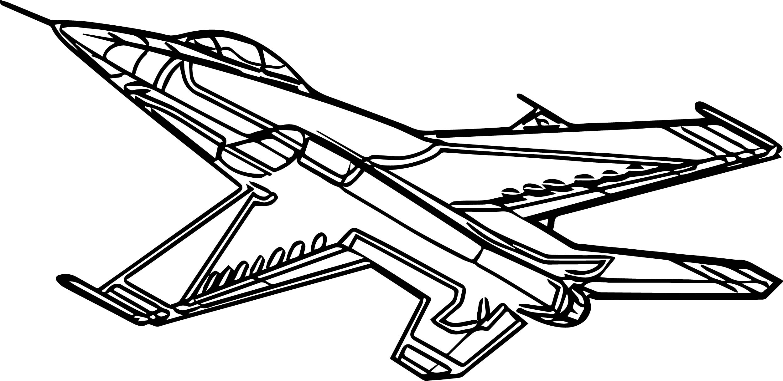 F16 Airplane Coloring Page Wecoloringpage