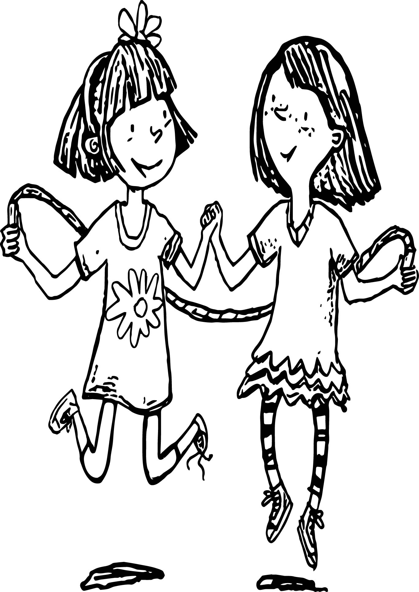 Amelia Bedelia Coloring Pages Jump Roping