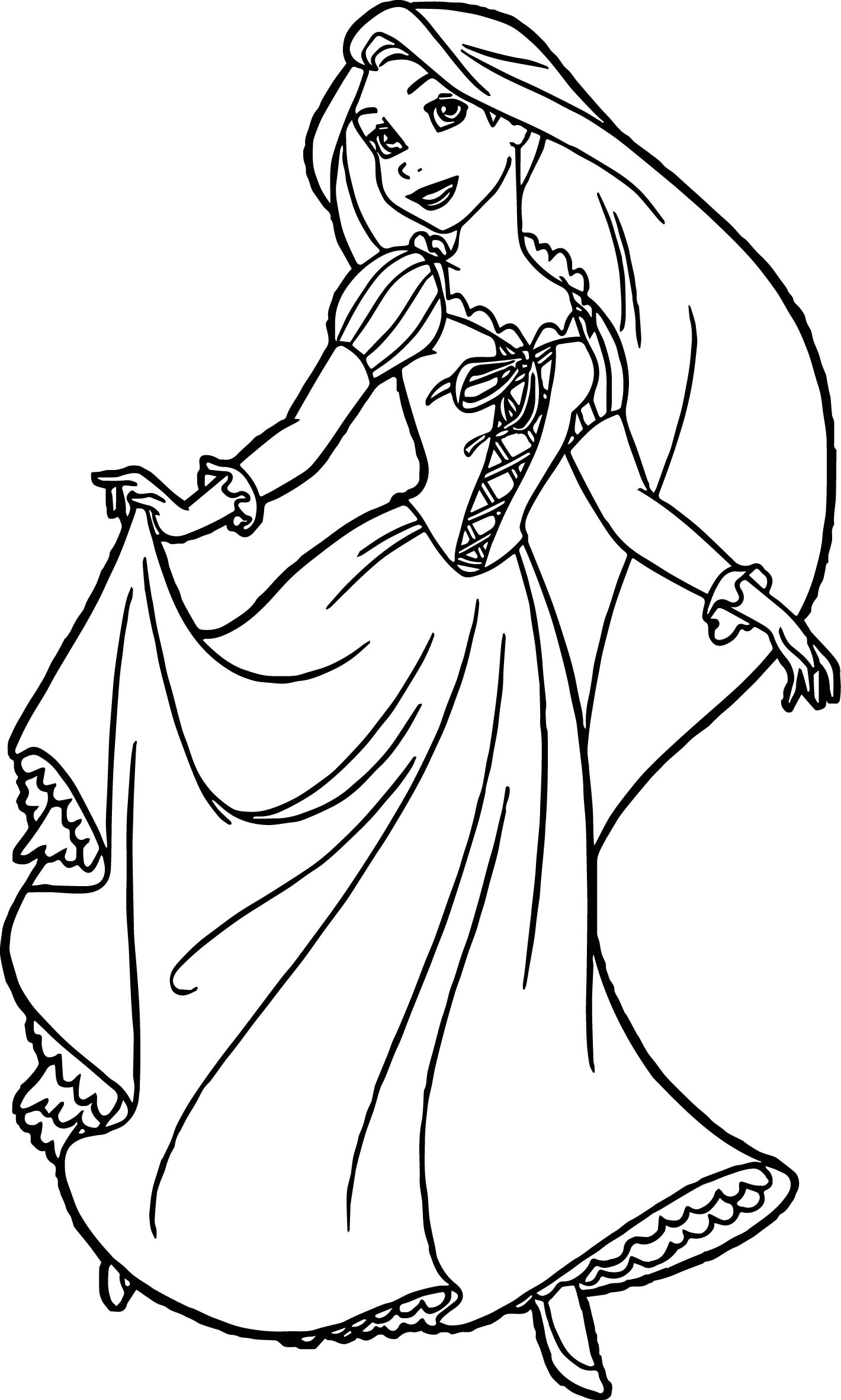 Rapunzel And Flynn Ready Coloring Page Wecoloringpage
