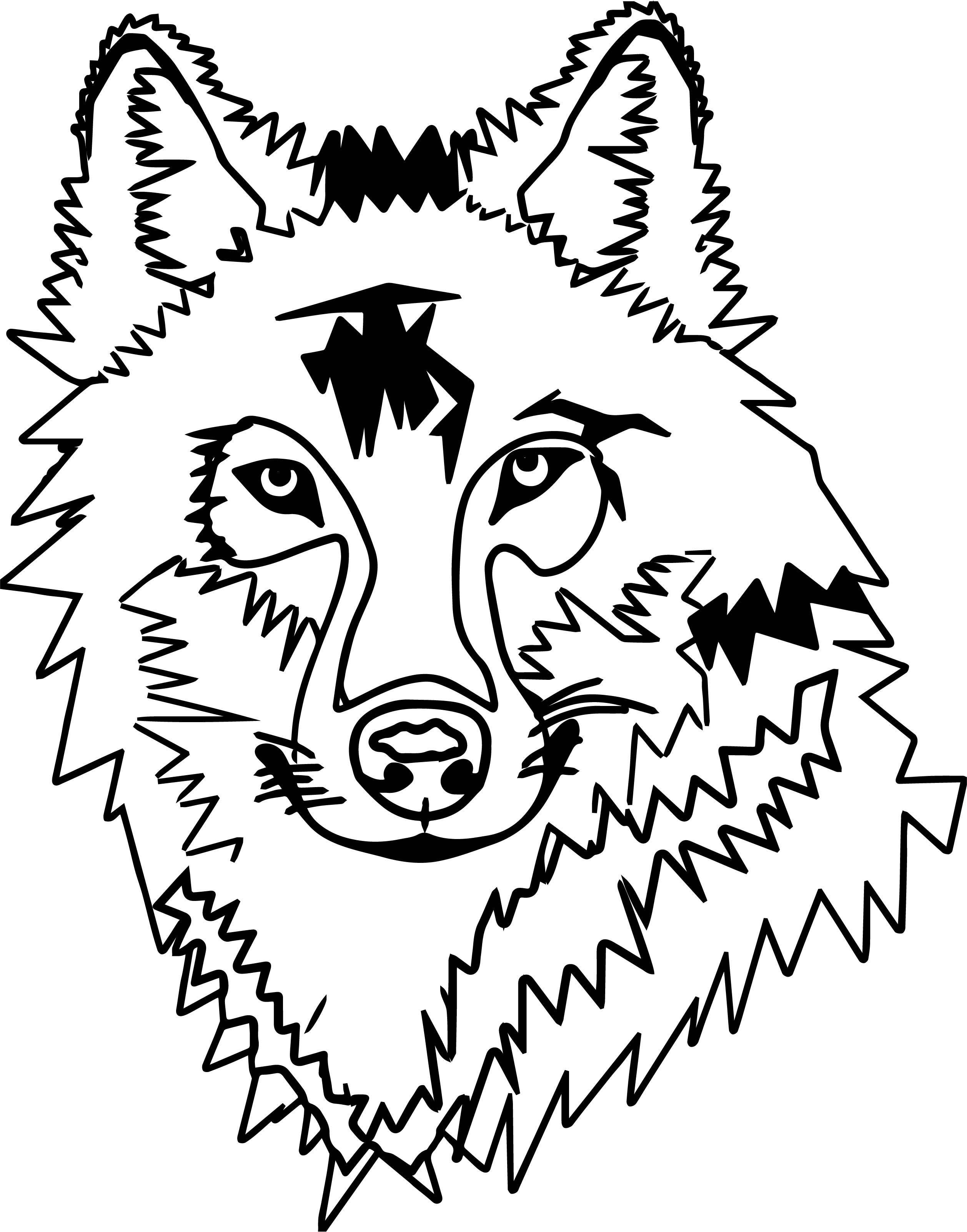 Any Wolf Face Coloring Page Wecoloringpage