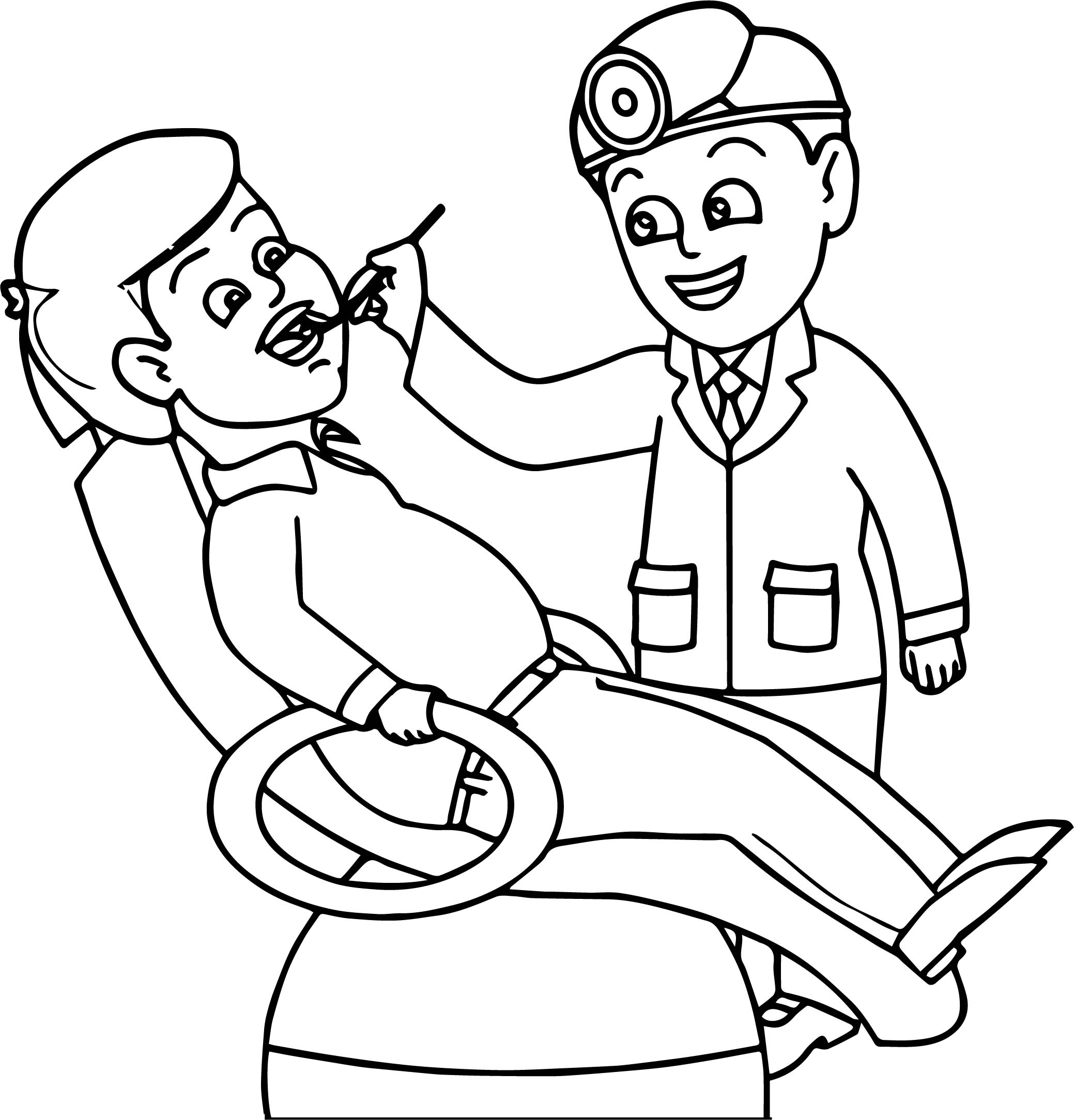 Dental Doctor People Health Coloring Page Wecoloringpage