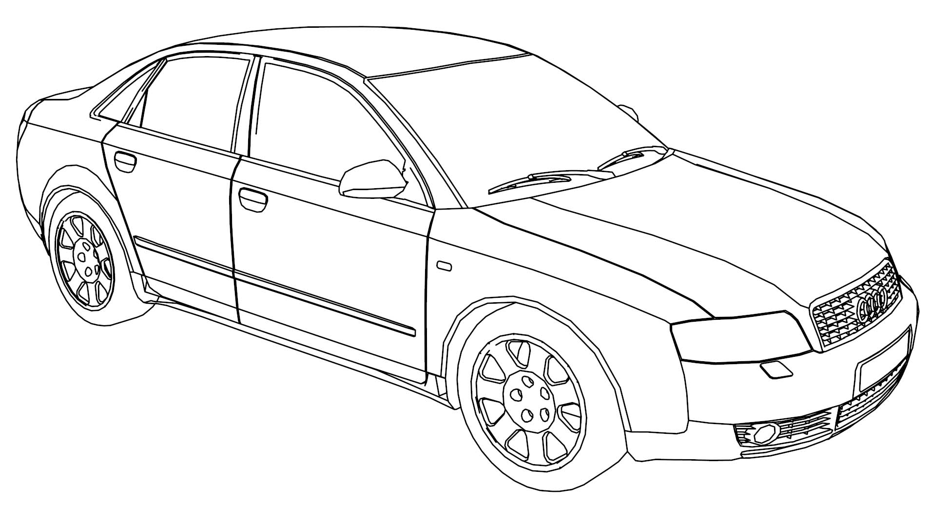 Audi A4 Side Coloring Page Wecoloringpage